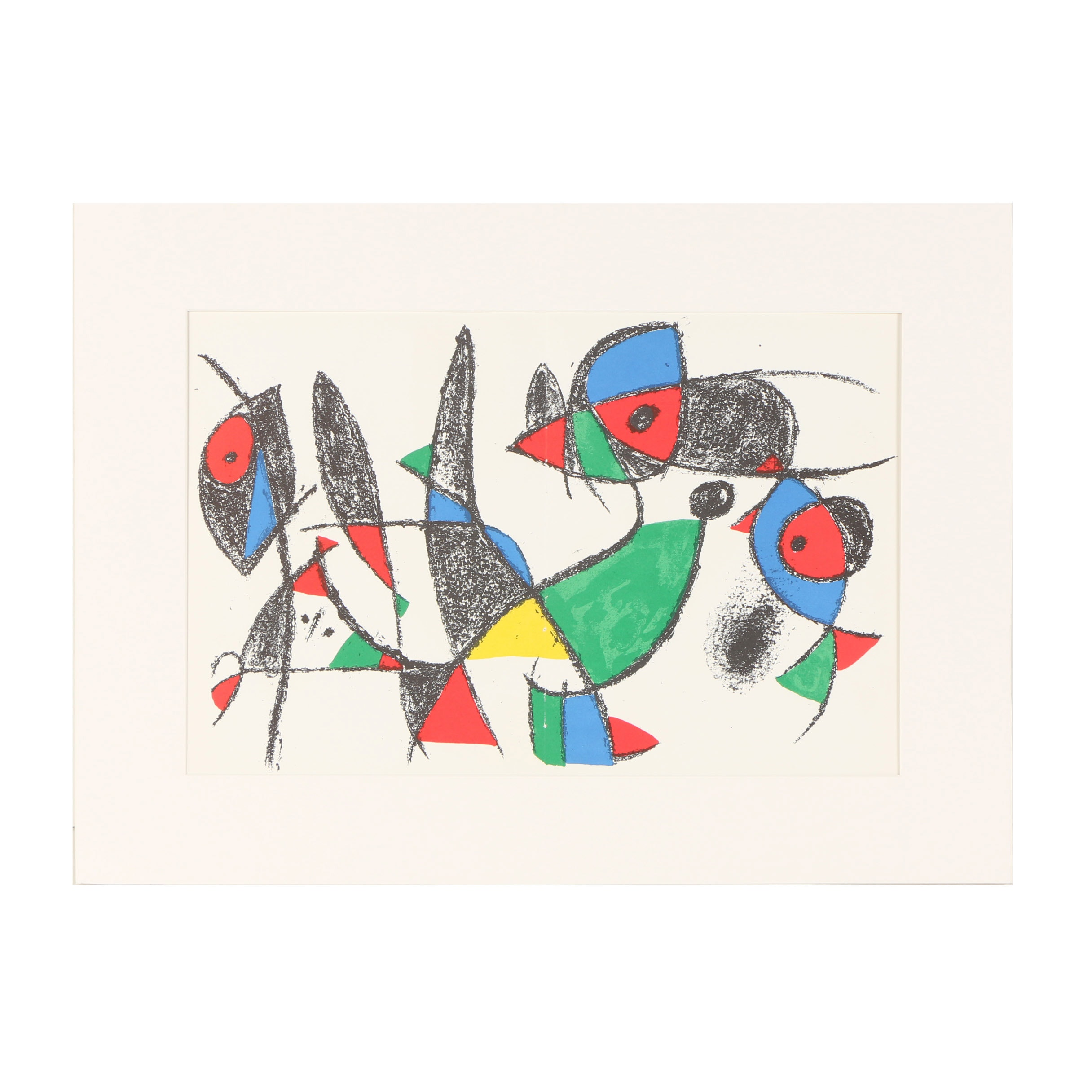 "Joan Miró Color Lithograph from ""Lithographs II"""