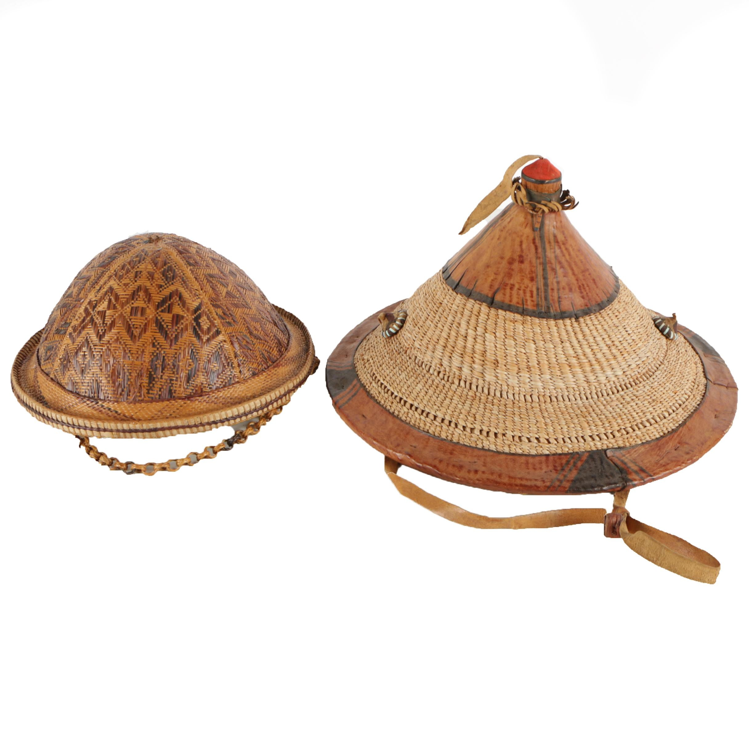 Southeast Asian Style Hats and Woven Domed Hat