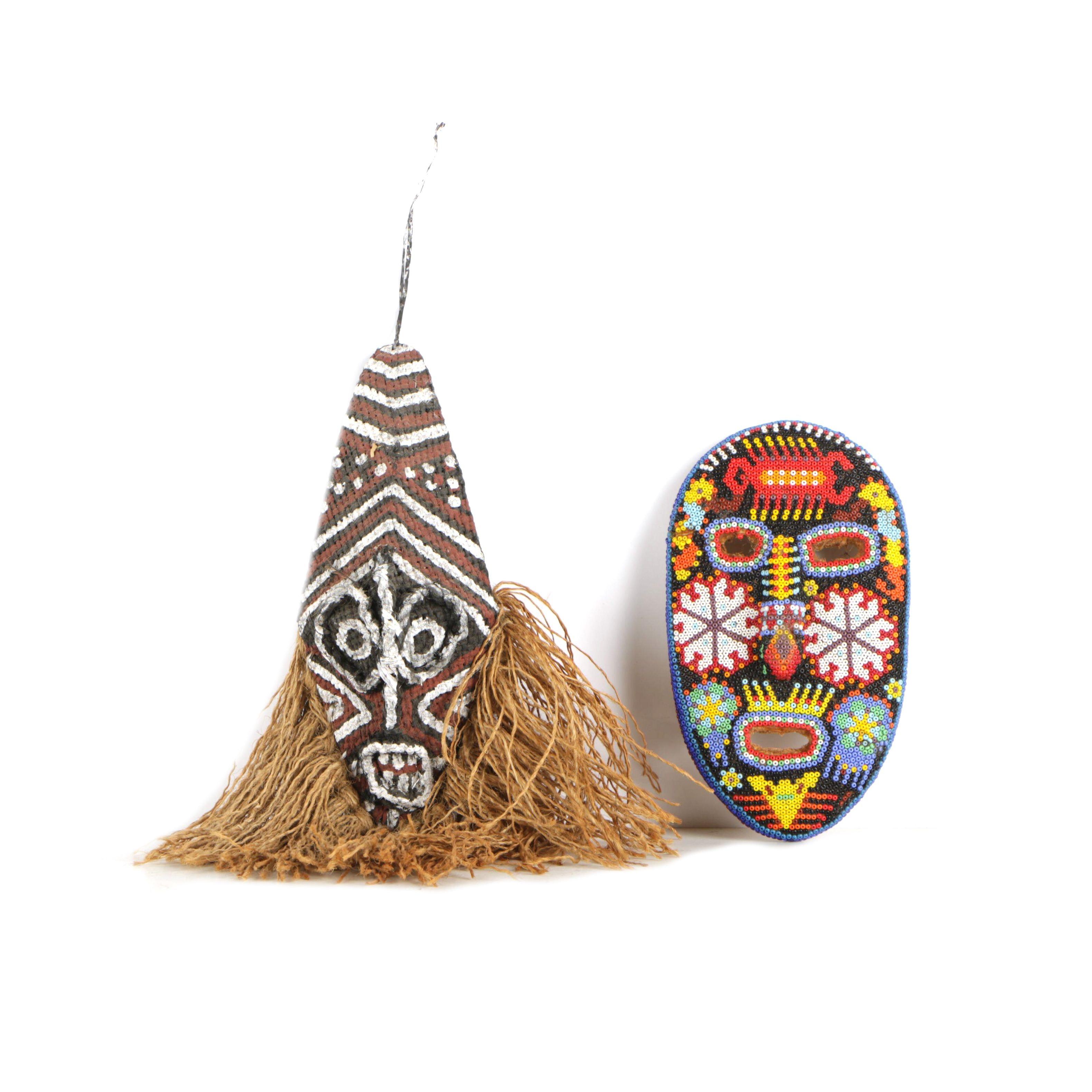 Chokwe- and Huichol-Style Masks