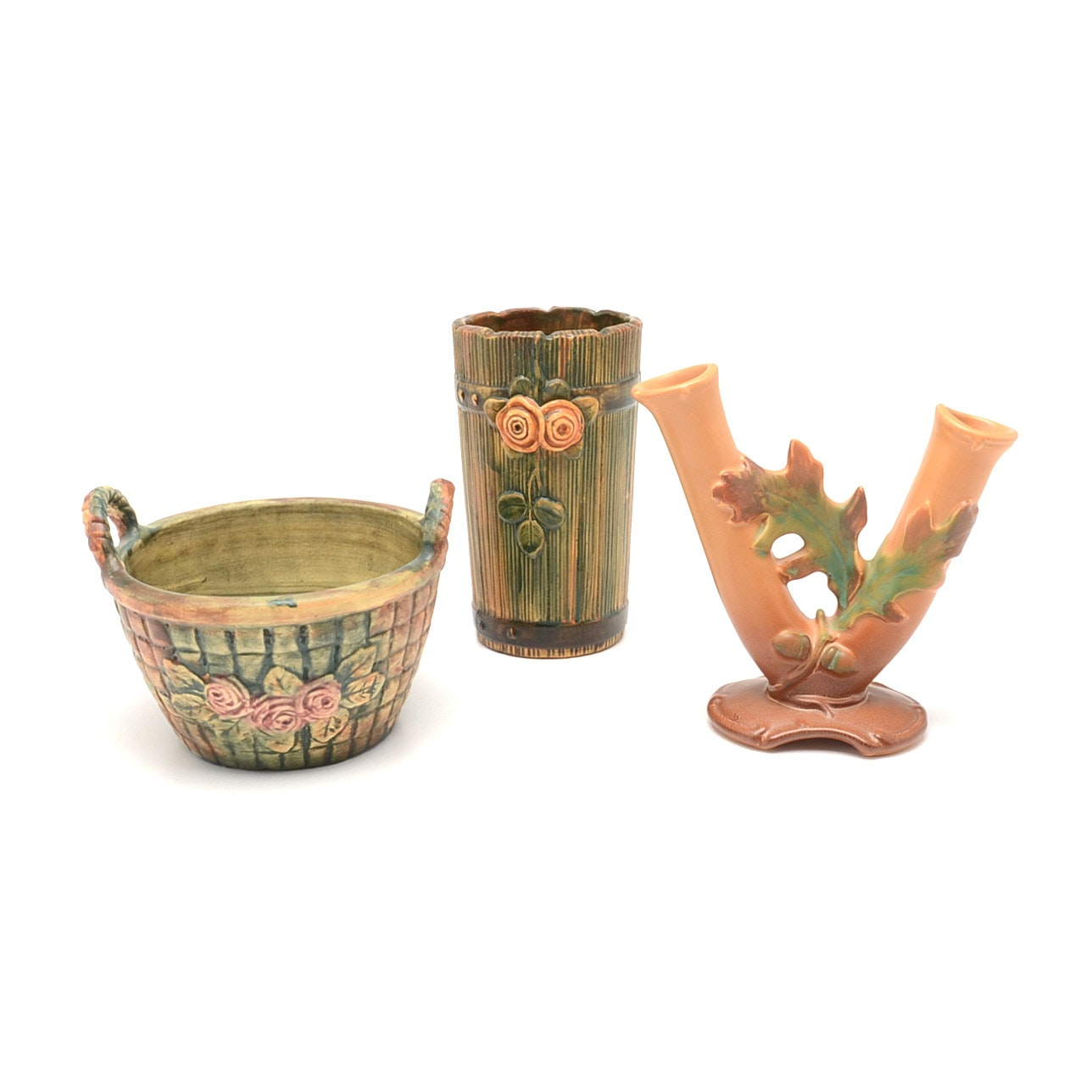"Weller ""Woodrose"" and ""Oak Leaf and Acorn"" Pottery"