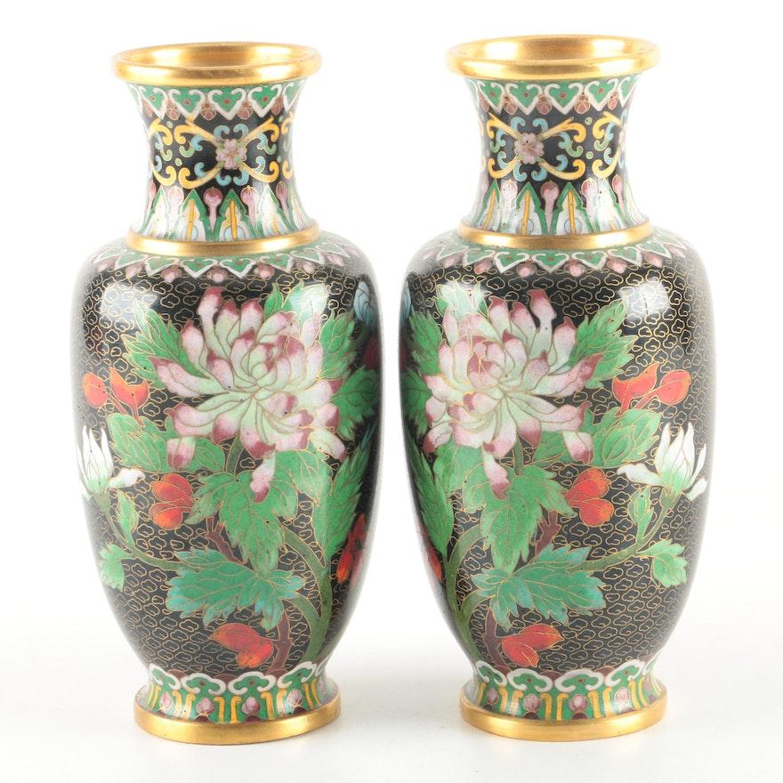 Chinese Cloisonne Vases Ebth