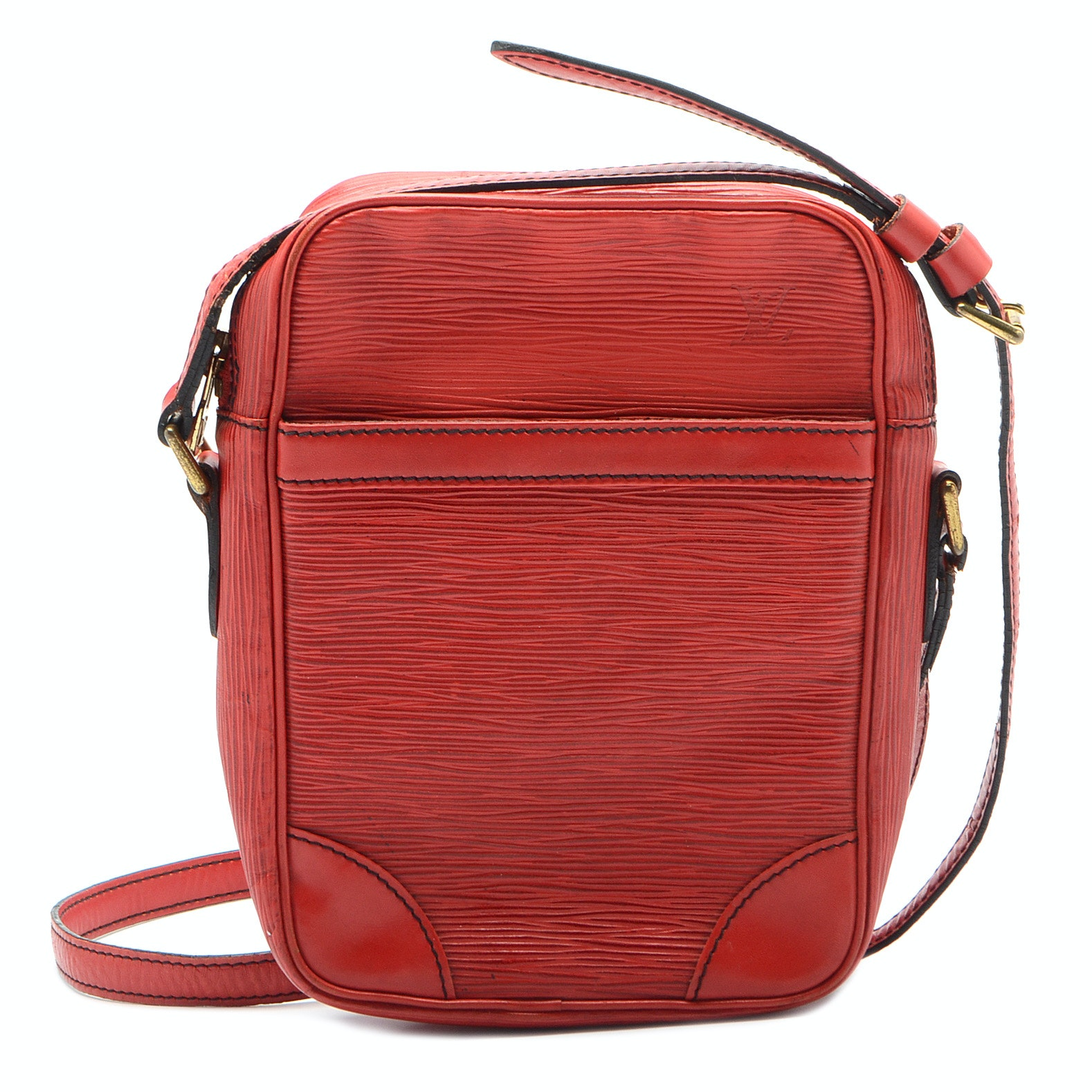 Louis Vuitton Red Epi Petit Noe Handbag