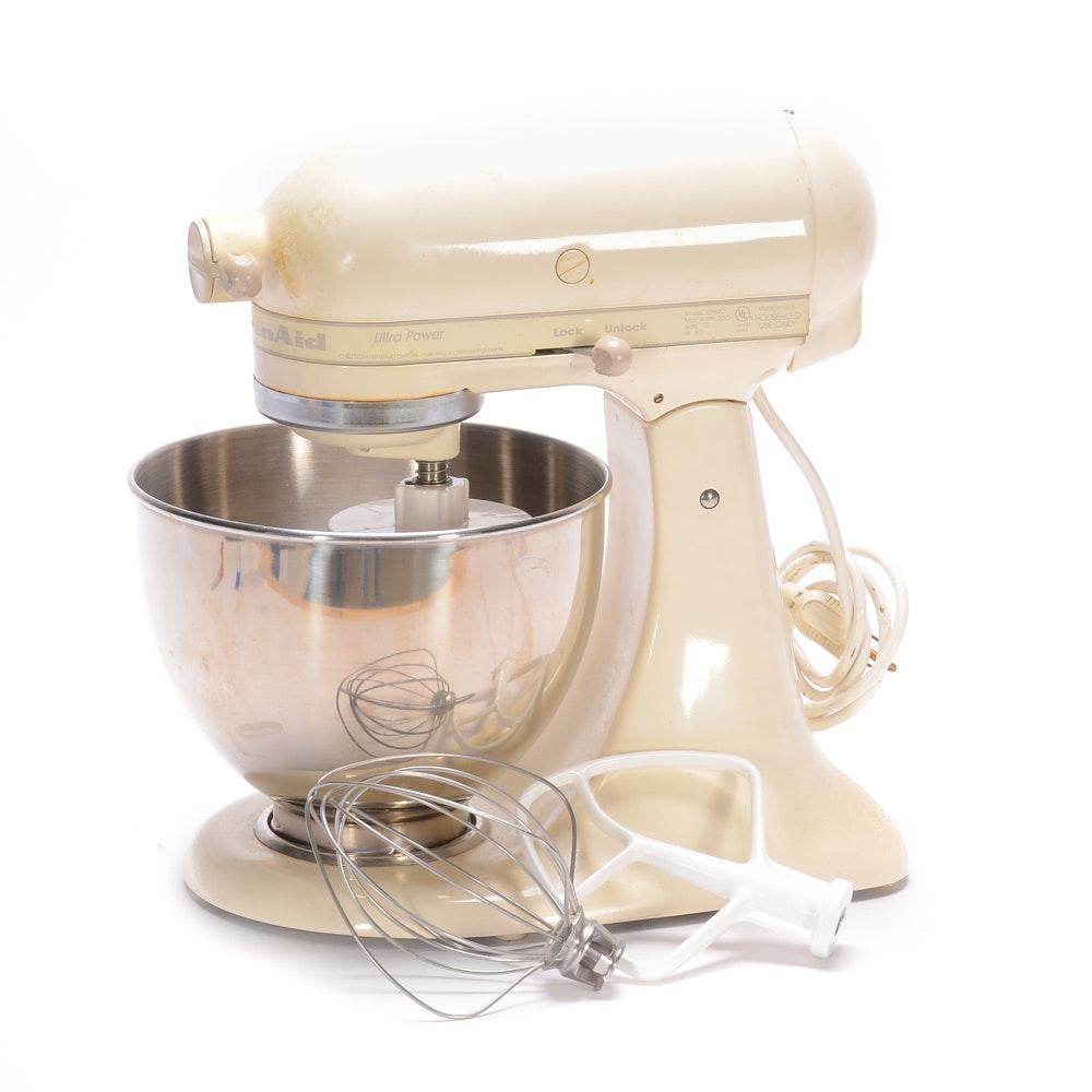 White KitchenAid Ultra Power Mixer