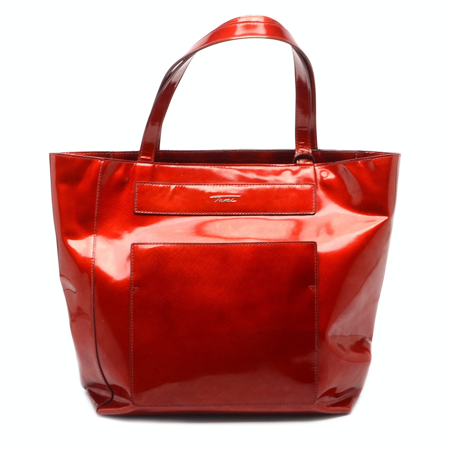 Red Tumi Tote Bag with Attached Purse