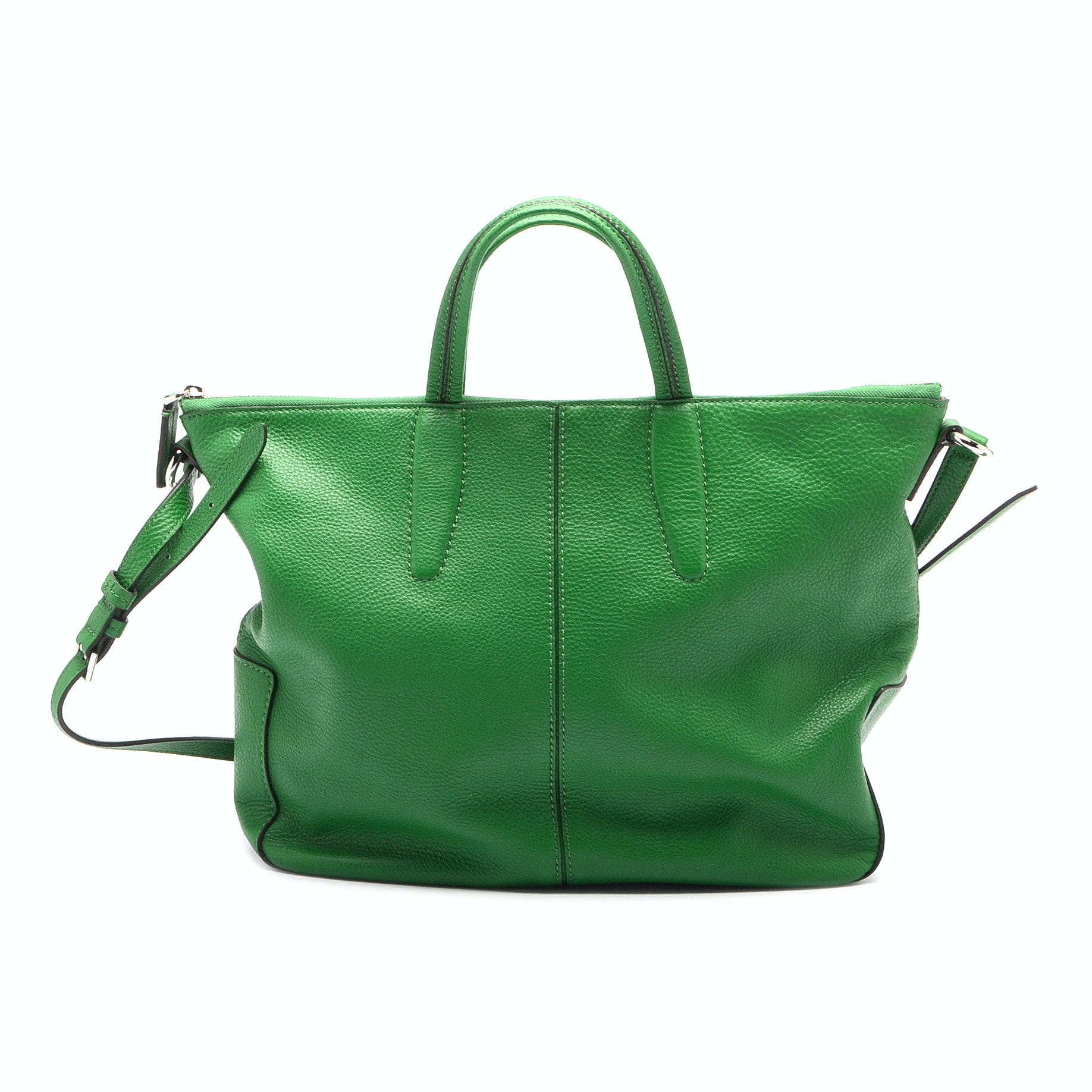 Tumi Green Leather Tote Bag