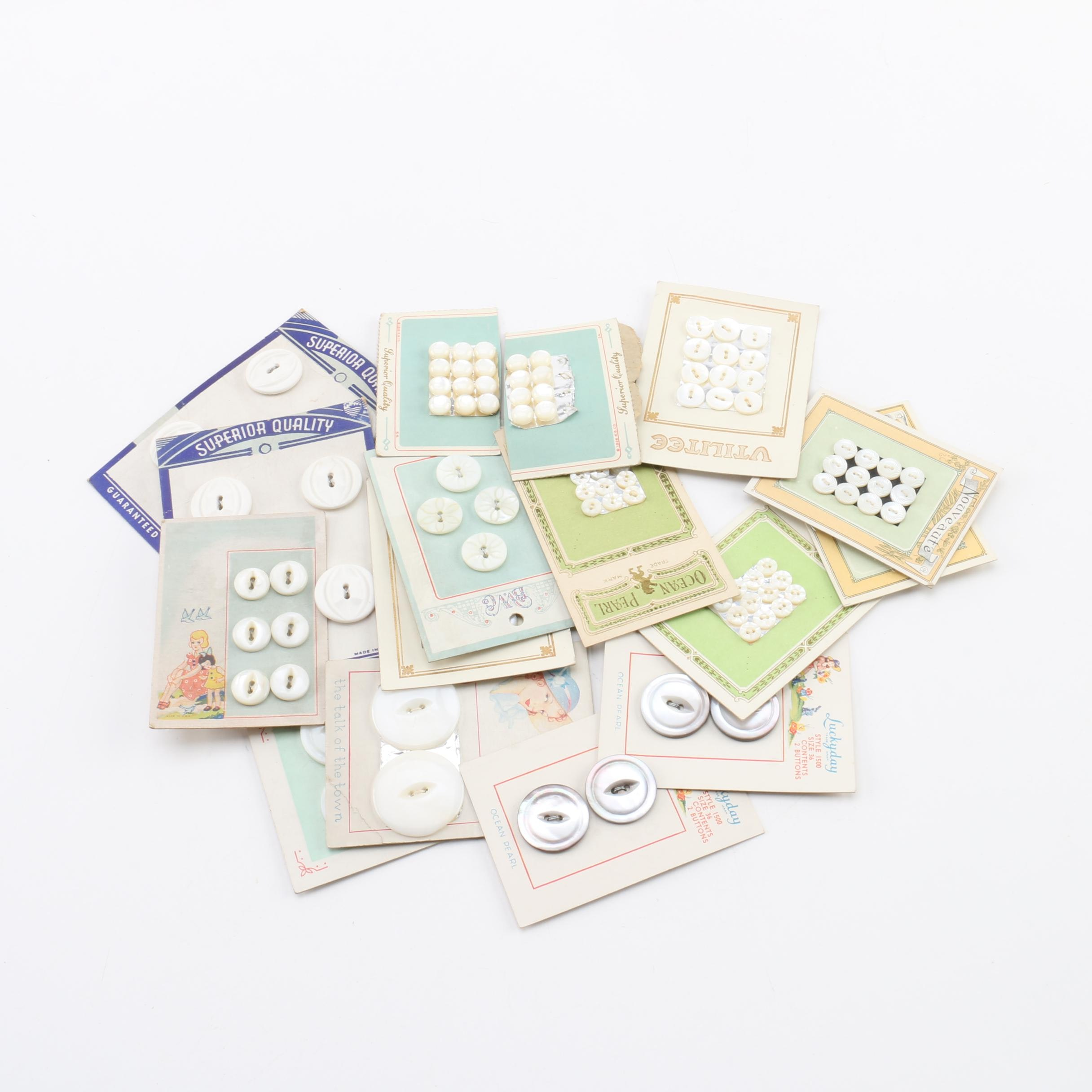 Collection of Vintage Buttons Including Superior Quality