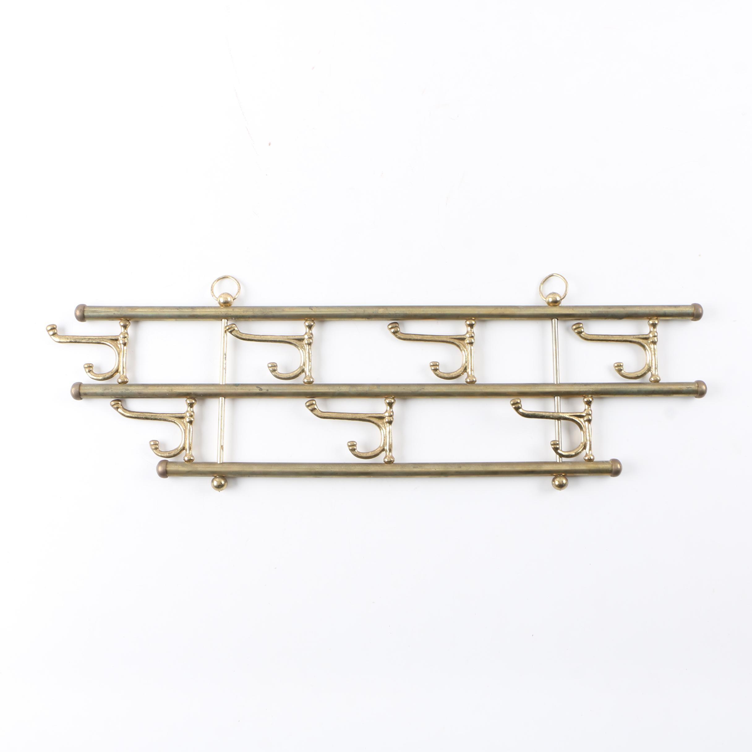 Brass Toned Wall Rack
