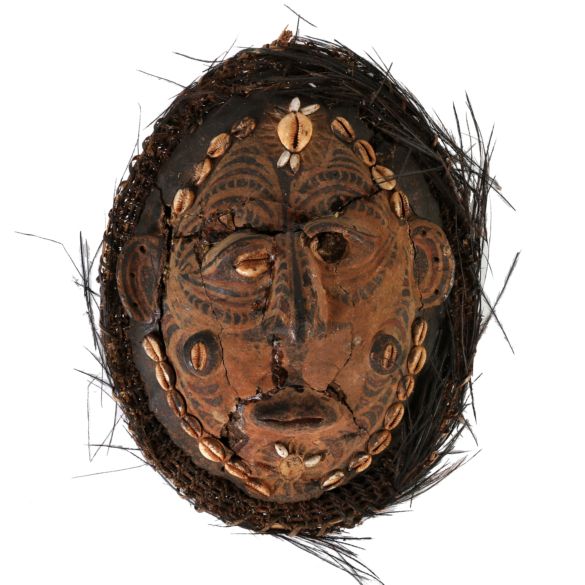 """Papua New Guinea """"Yam"""" Turtle Shell and Clay Mask"""