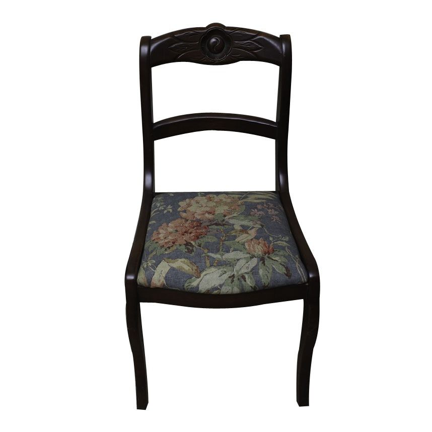 Good Vintage Victorian Style Saber Leg Side Chair ...