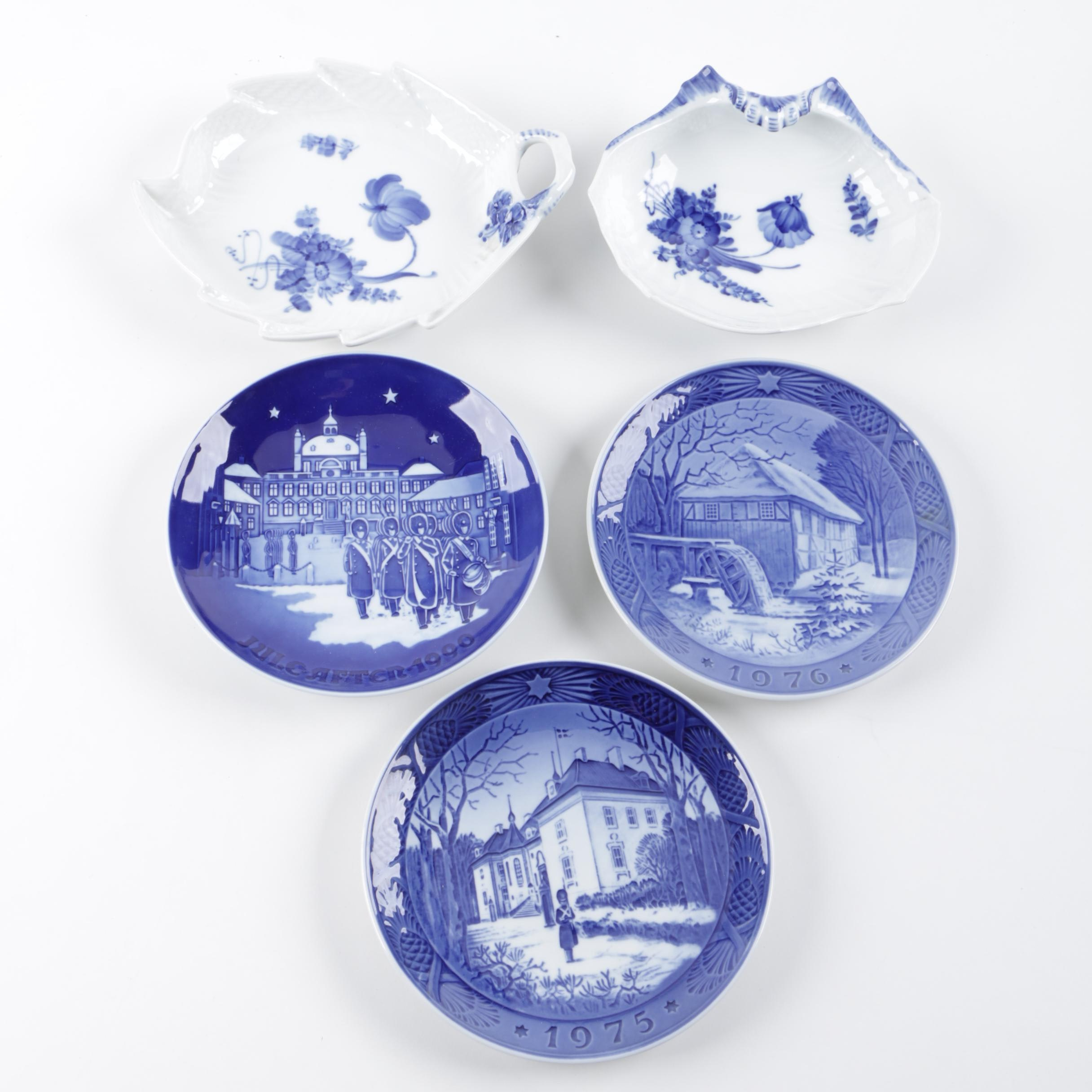 Royal Copenhagen and Bing and Grøndahl Commemorative Plates and Dishes