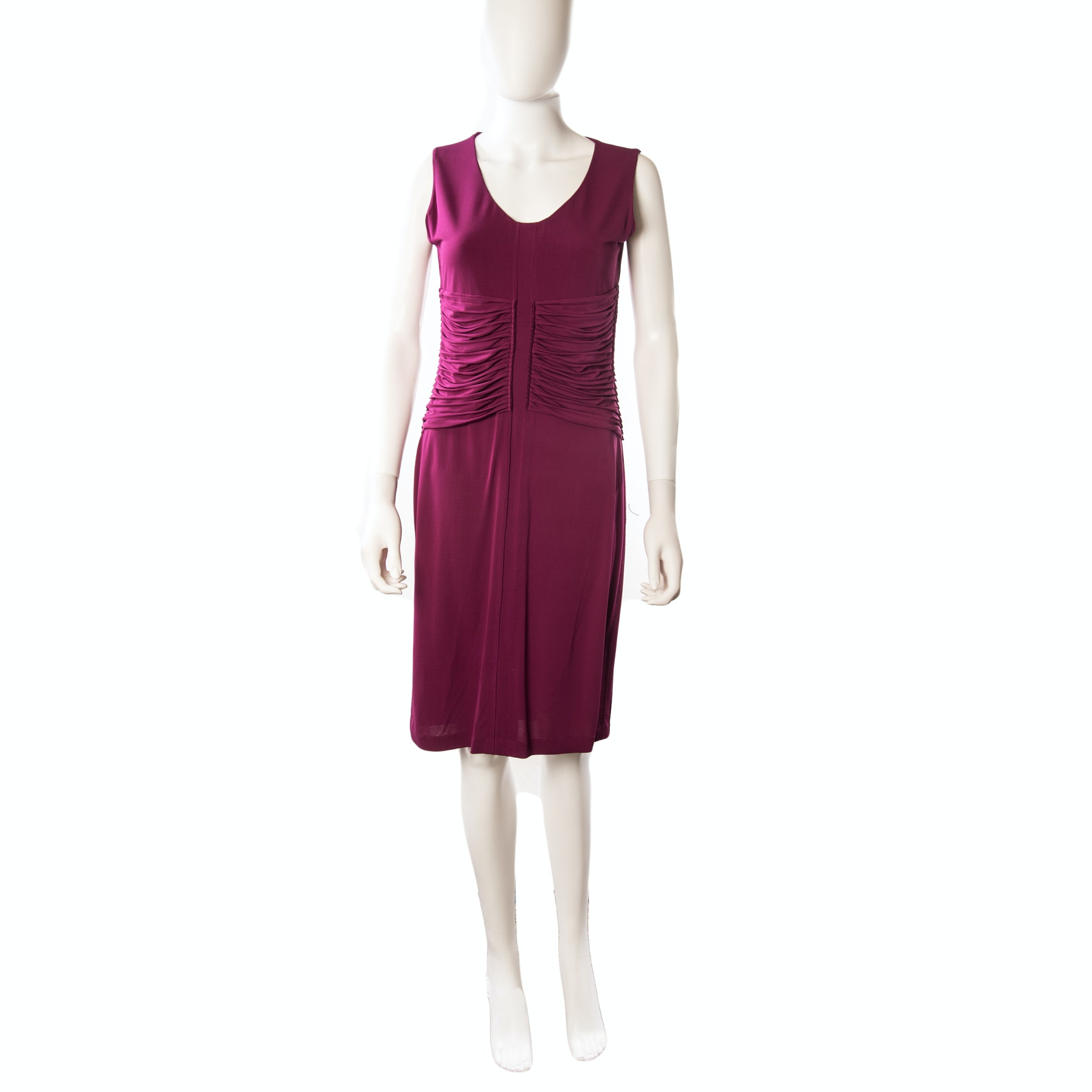 Escada Erika Ruched Sleeveless Sheath Dress in Anemone