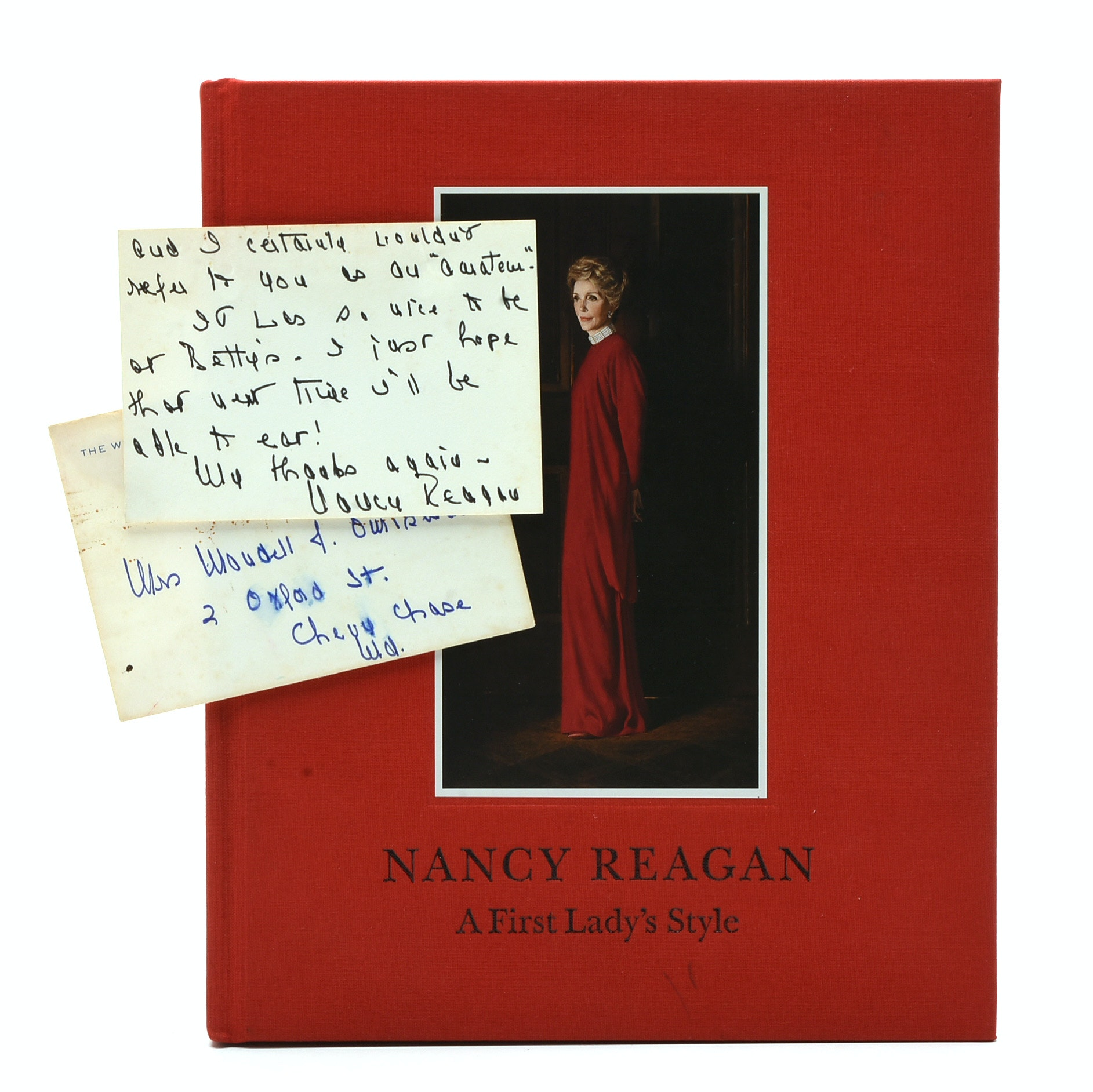 Autographed Book and Personal Letter Signed by First Lady, Nancy Reagan