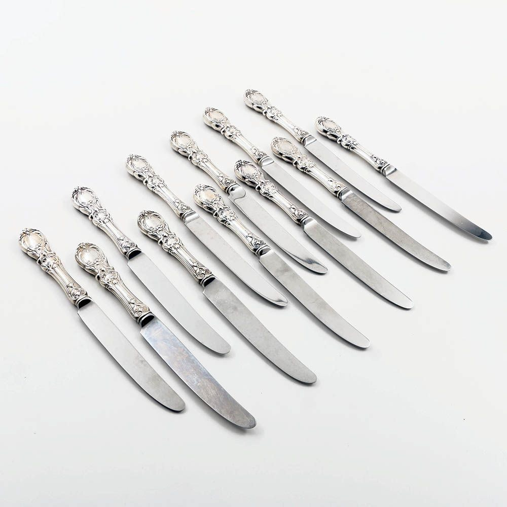 """Reed & Barton """"Francis I"""" Sterling Silver Hollow Handled Knives"""