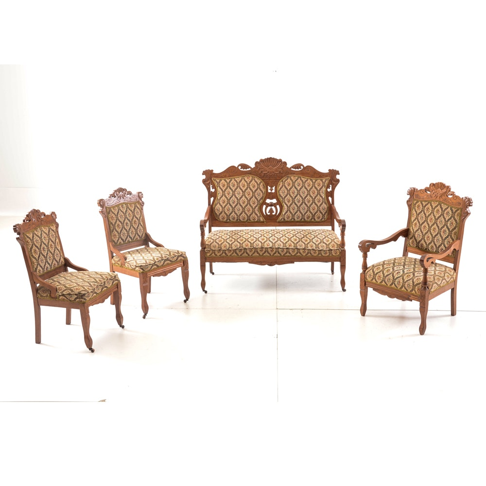 Late Victorian Four-Piece Parlor Suite