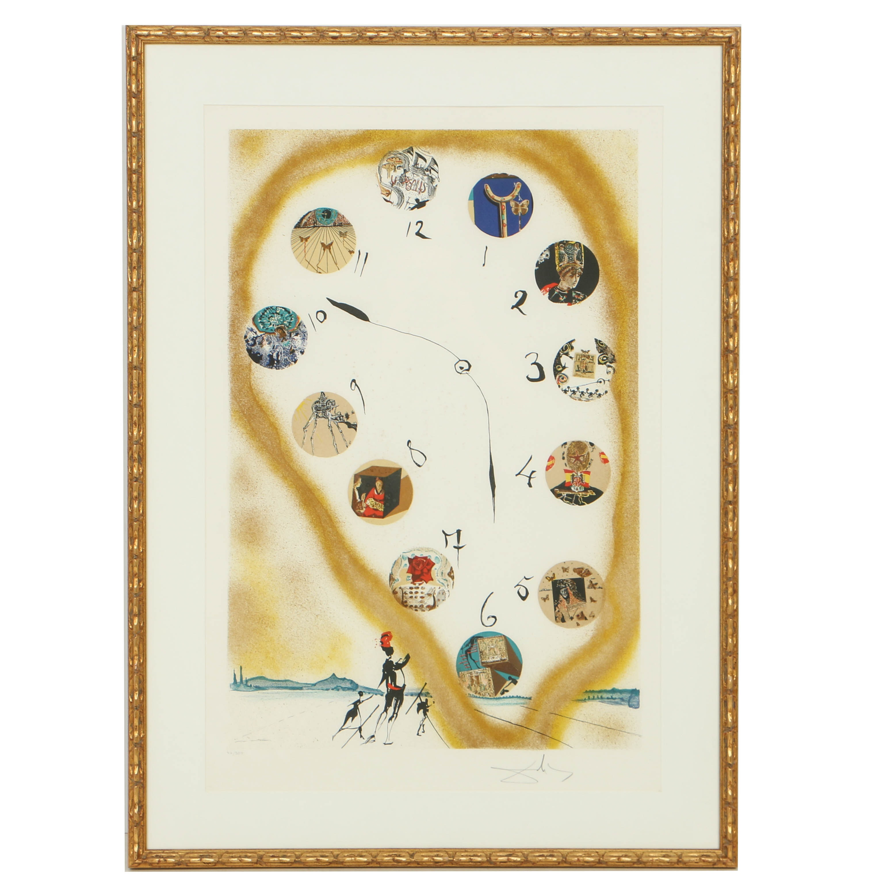 """Salvador Dalí Limited Edition Lithograph on Arches """"Time and Space"""""""