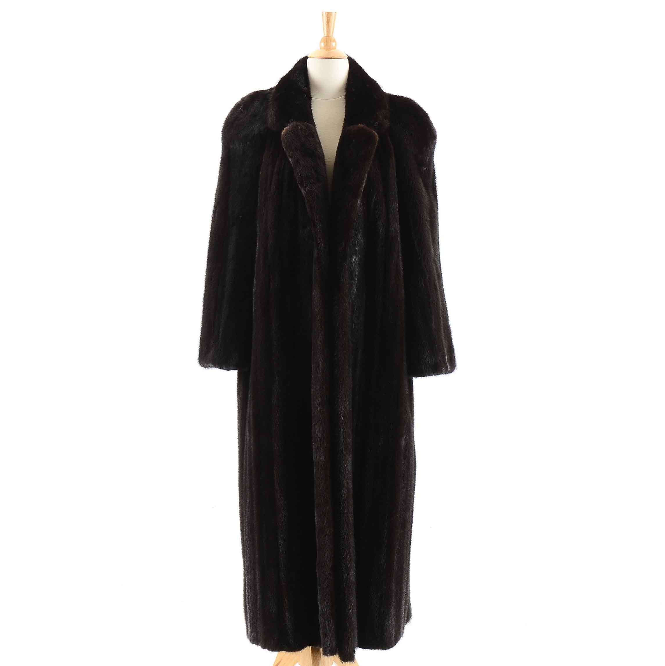 Vintage Full-Length Ranched Mink Fur Coat