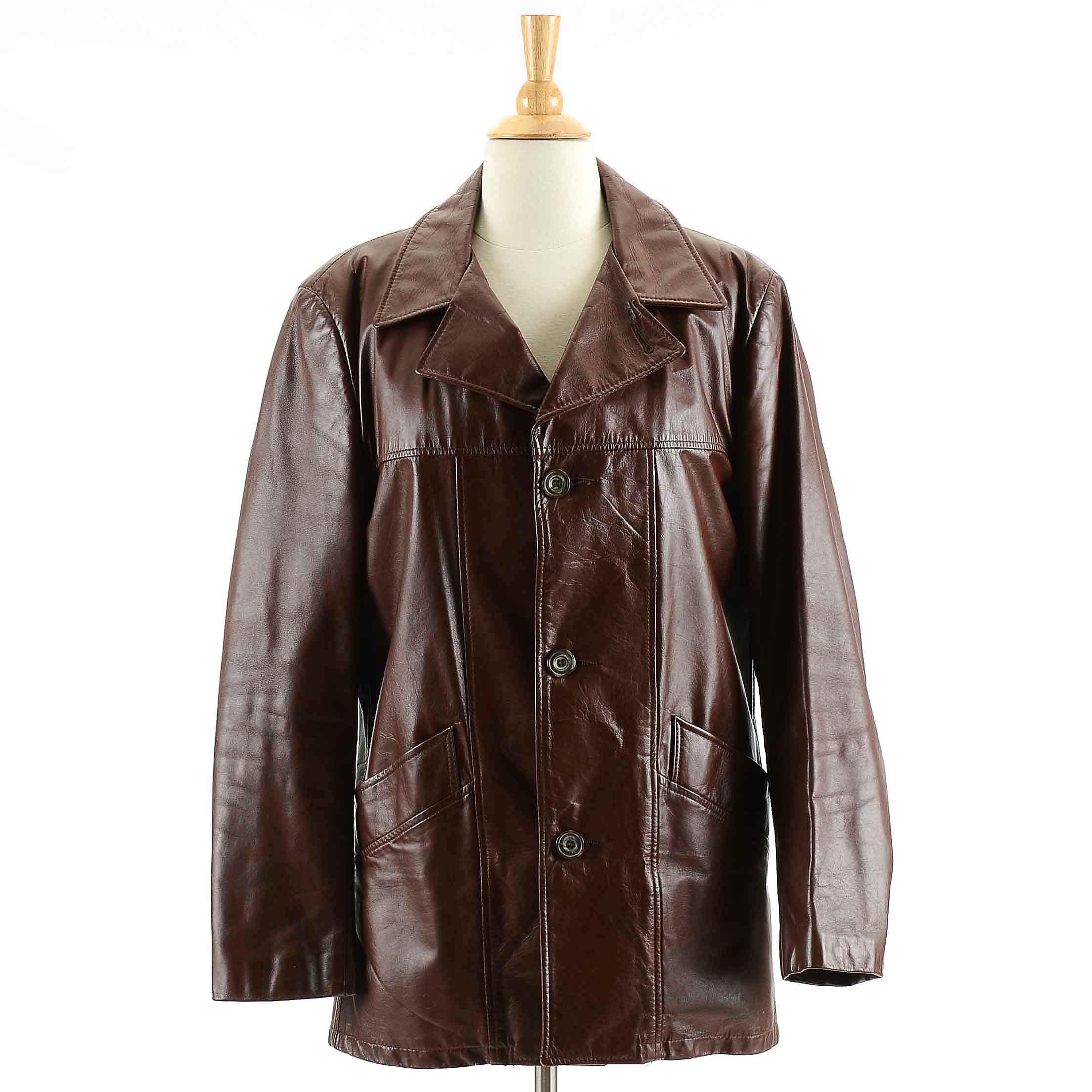 Men's Vintage London Fog Leather Jacket