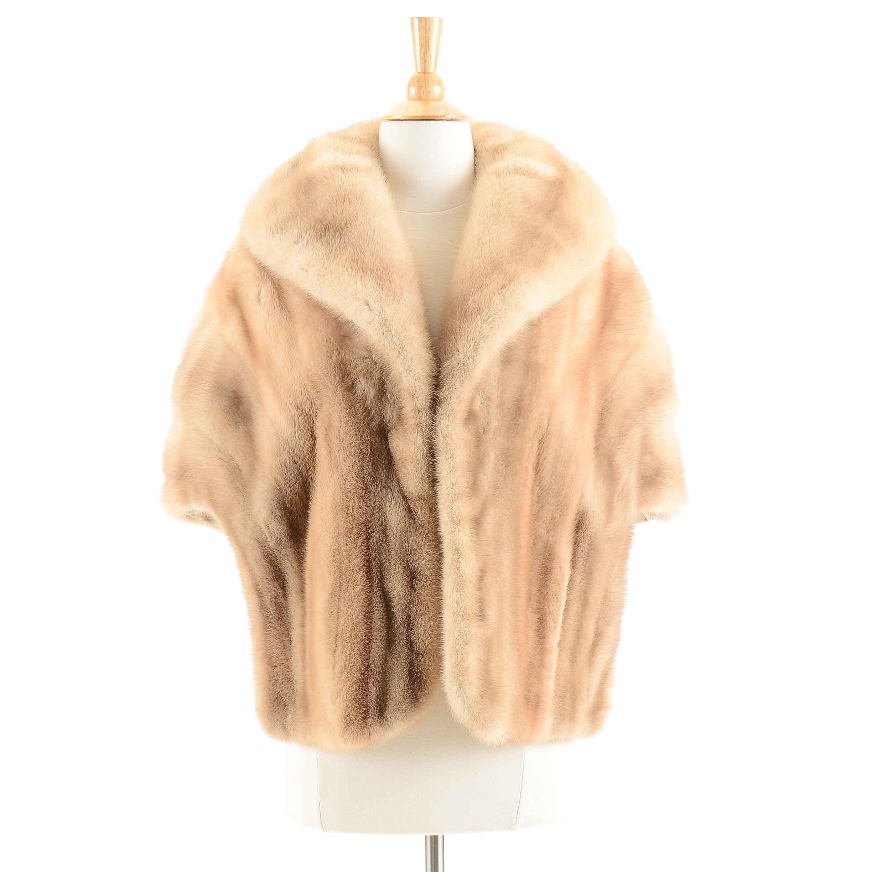 Women's Vintage Blond Mink Fur Stole