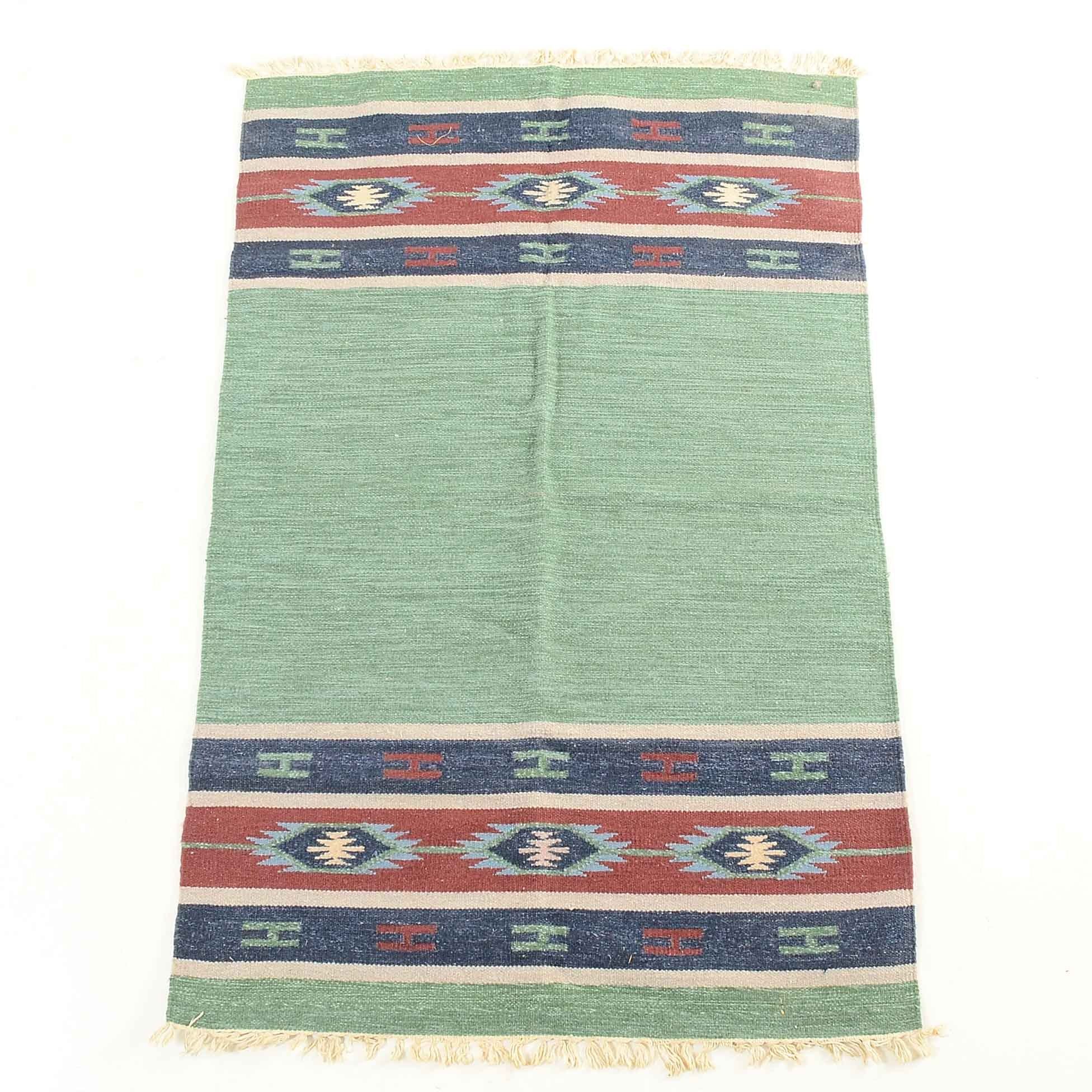 Handwoven Mexican Wool Rug