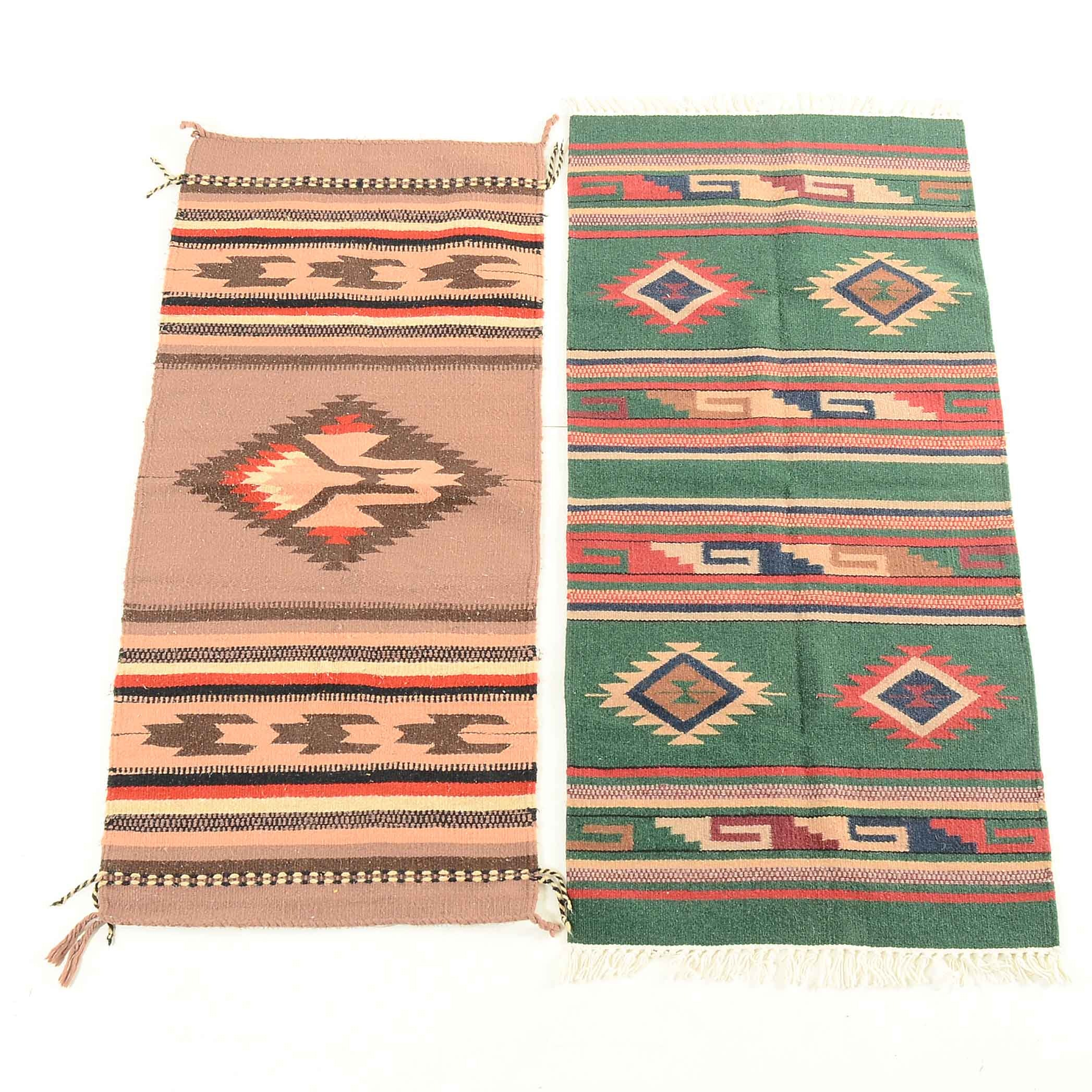 Handwoven Mexican-Style Wool Rugs