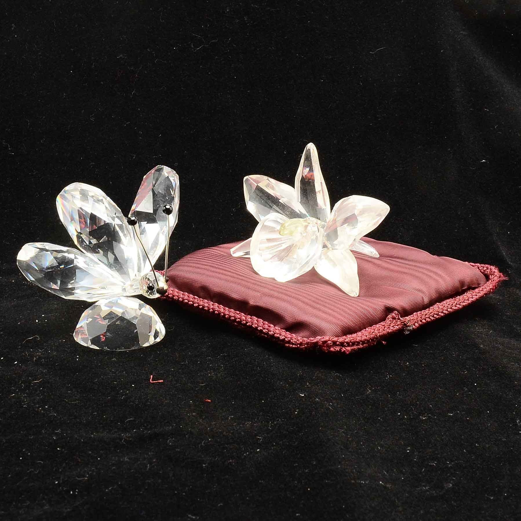 Swarovski Crystal Orchid and Butterfly