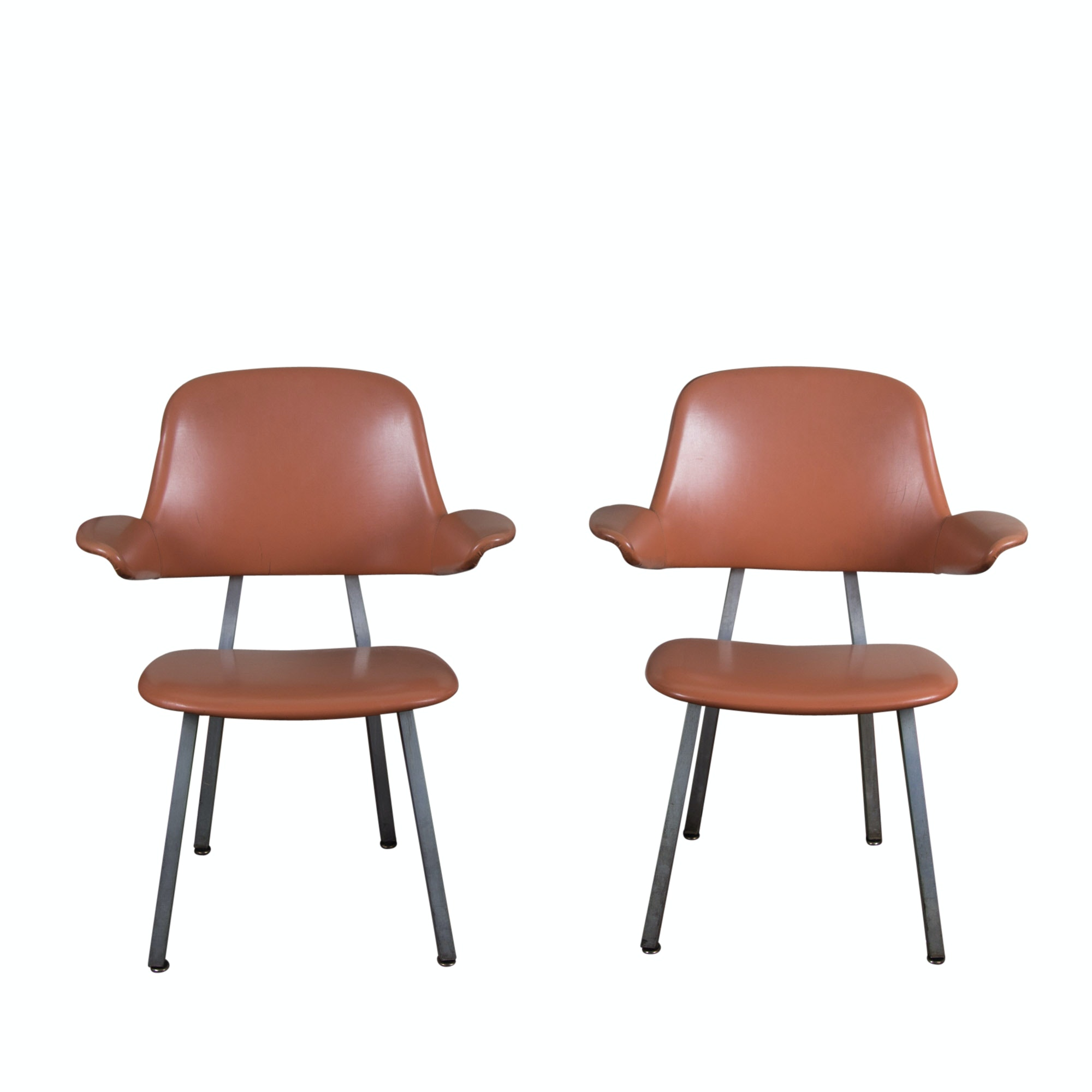Two Shaw Walker Mid Century Modern Arm Chairs