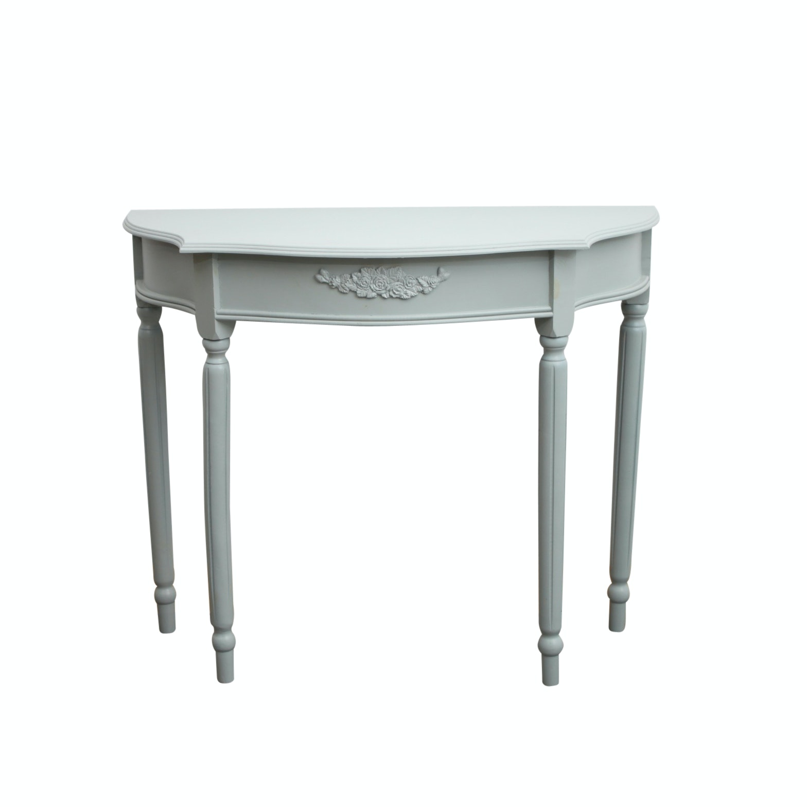 Louis XVI Style Pale Green Console Table
