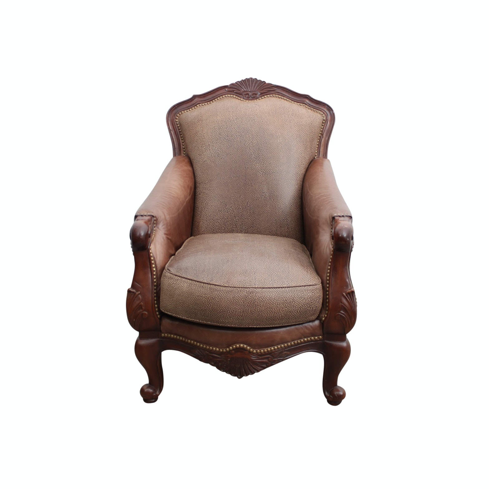 Queen Anne Style Armchair by Magellan's Furniture Emporium