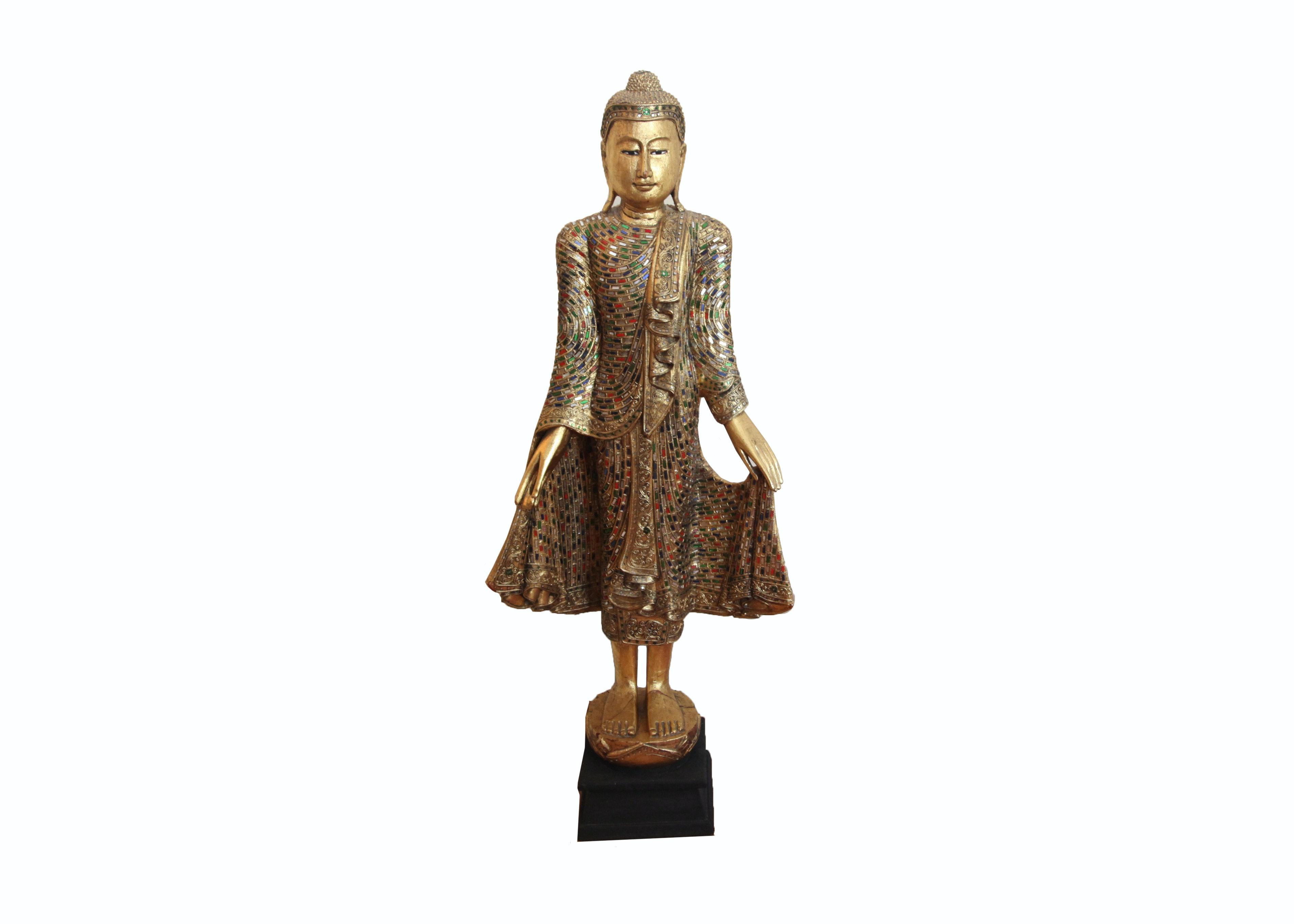 Thai Style Standing Buddha Statue