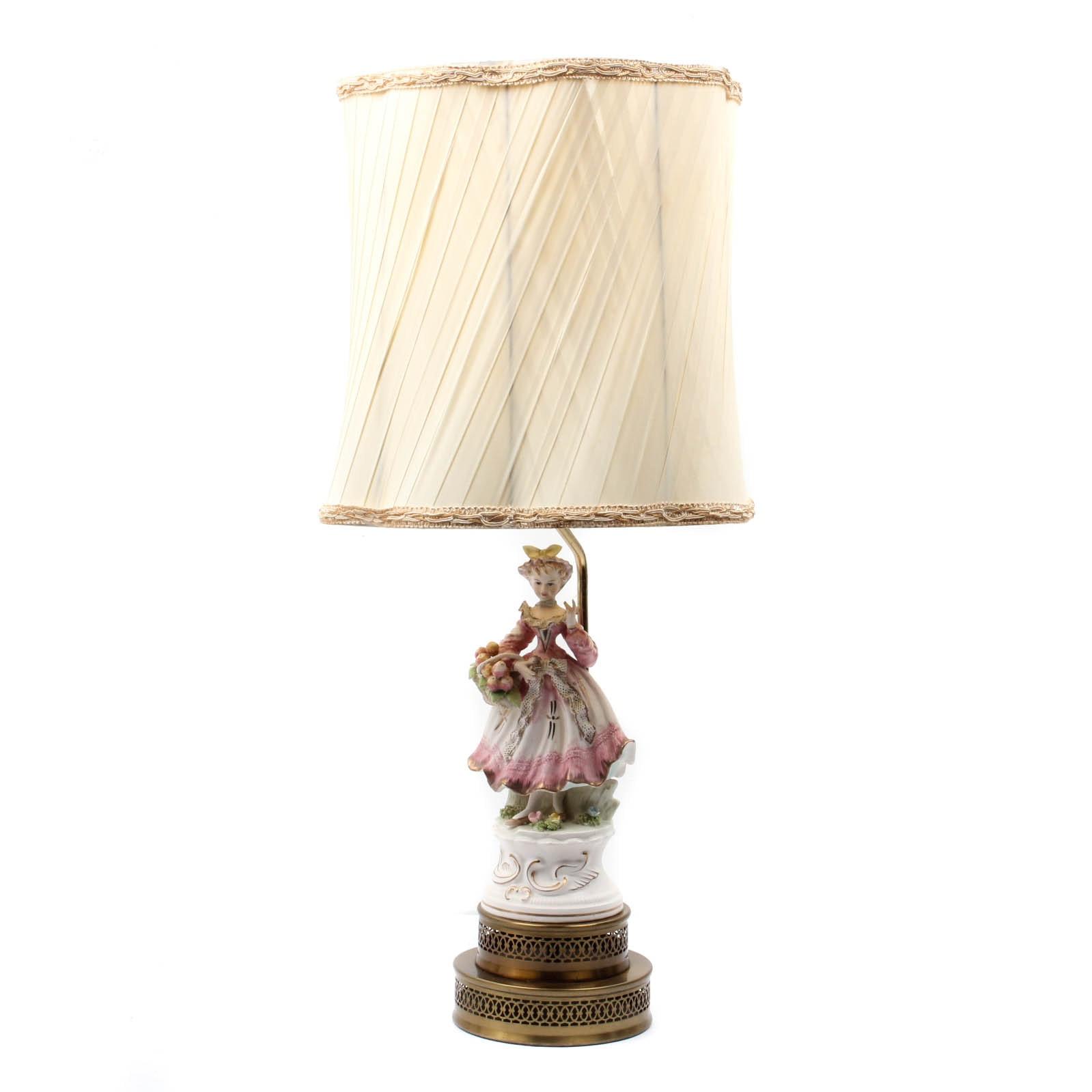 Vintage Leviton Porcelain Figural Lamp ...