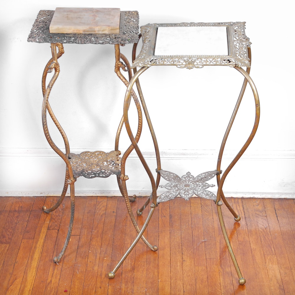 Vintage Victorian Style Cast Iron Plant Stands