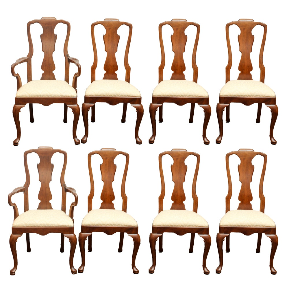 Queen Anne Style Dining Chairs by Henredon