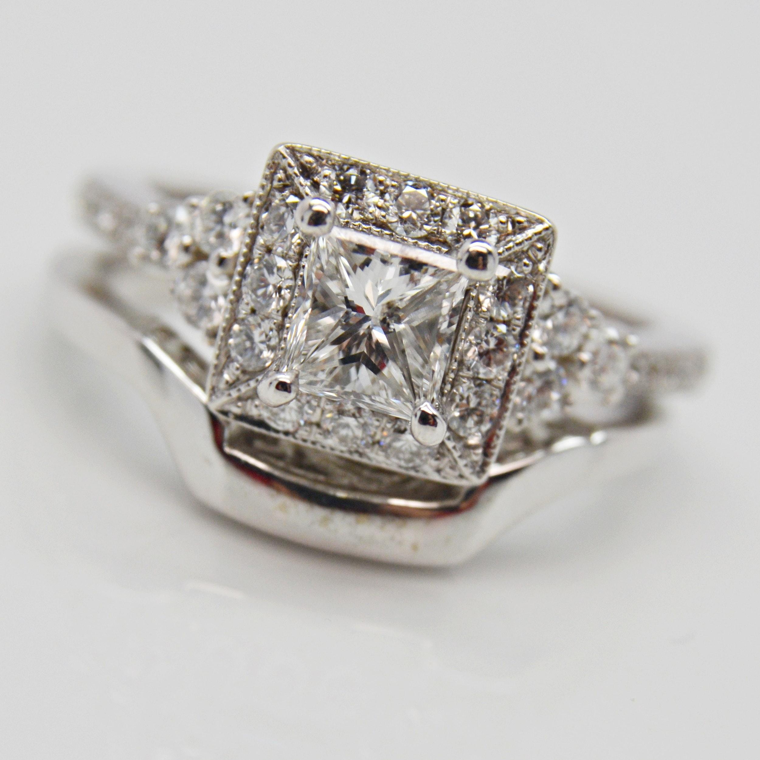 Neil Lane 14K White Gold 1.48 CTW Diamond Wedding Set