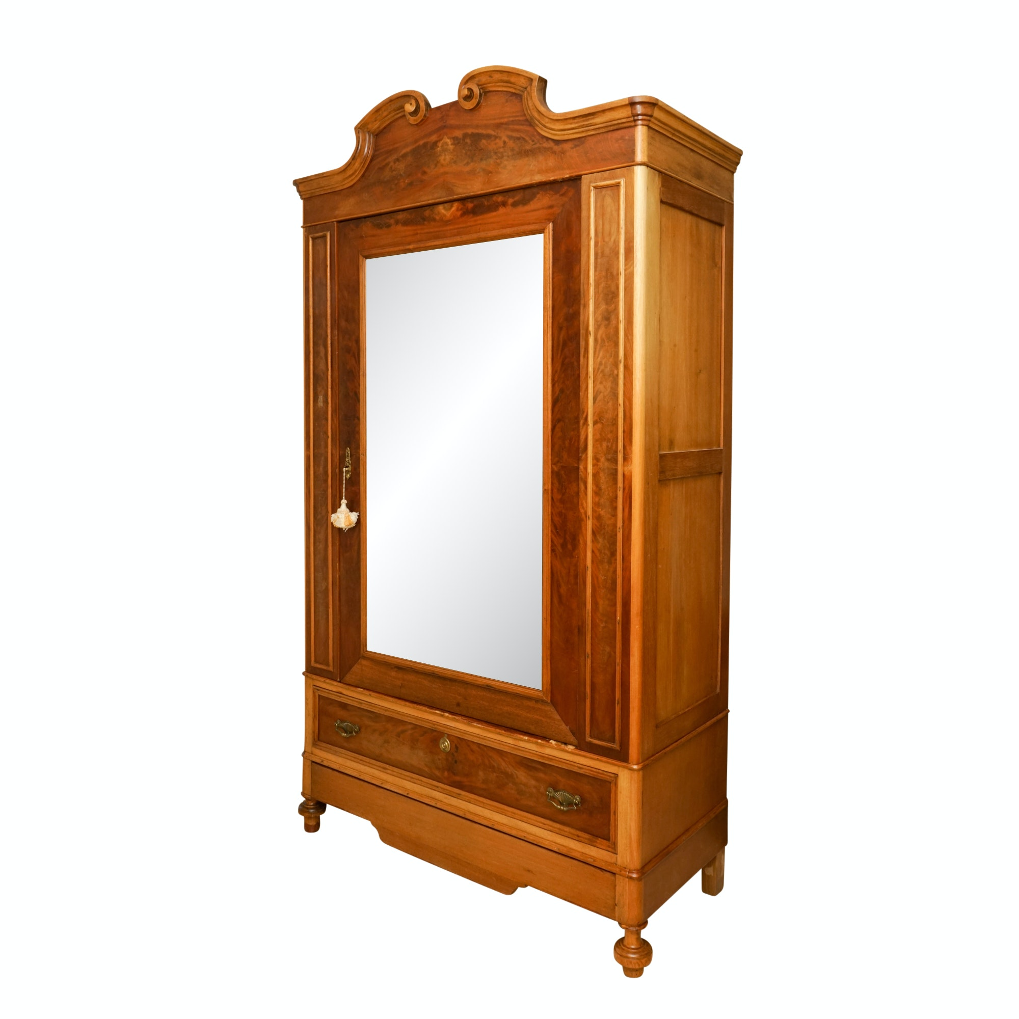 Antique Victorian Walnut Knockdown Armoire
