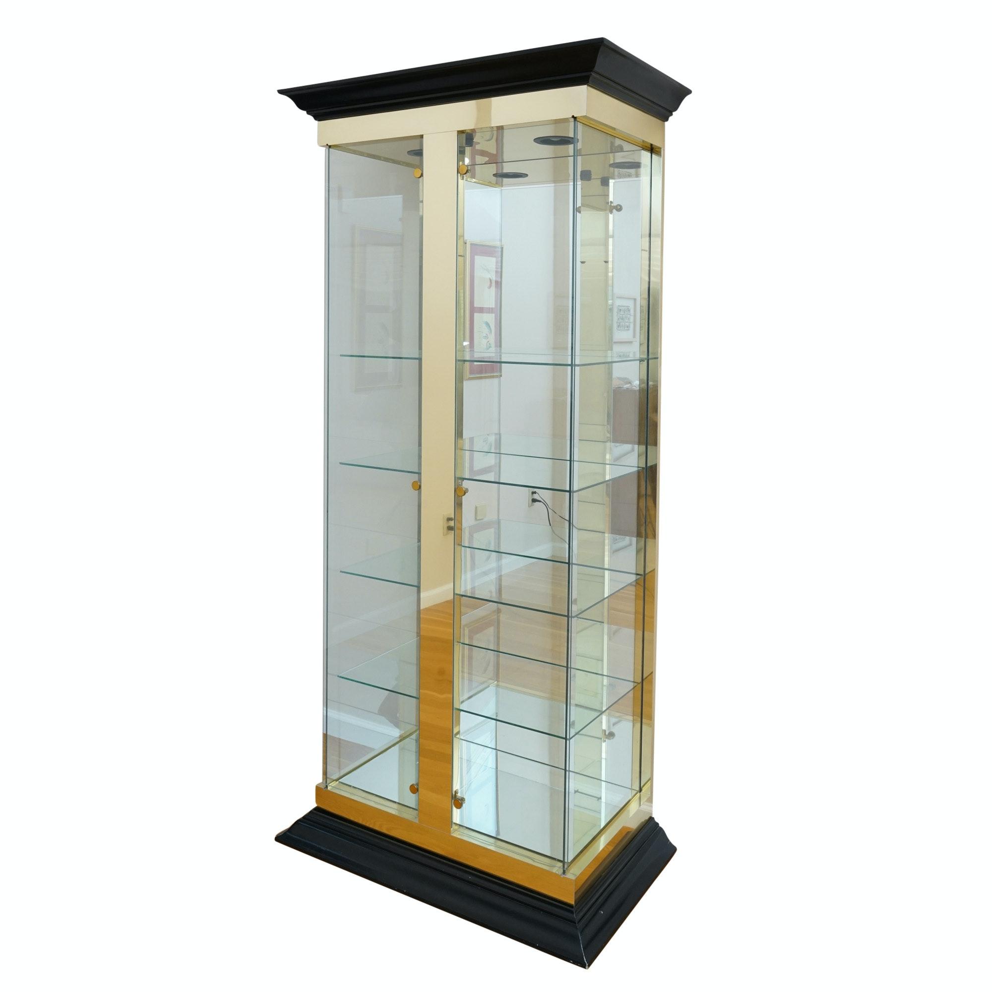 Vintage Illuminated Curio Cabinet
