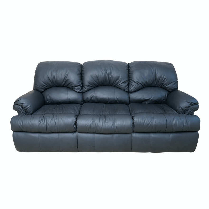 Faux Leather Sleeper Sofa By Sealy