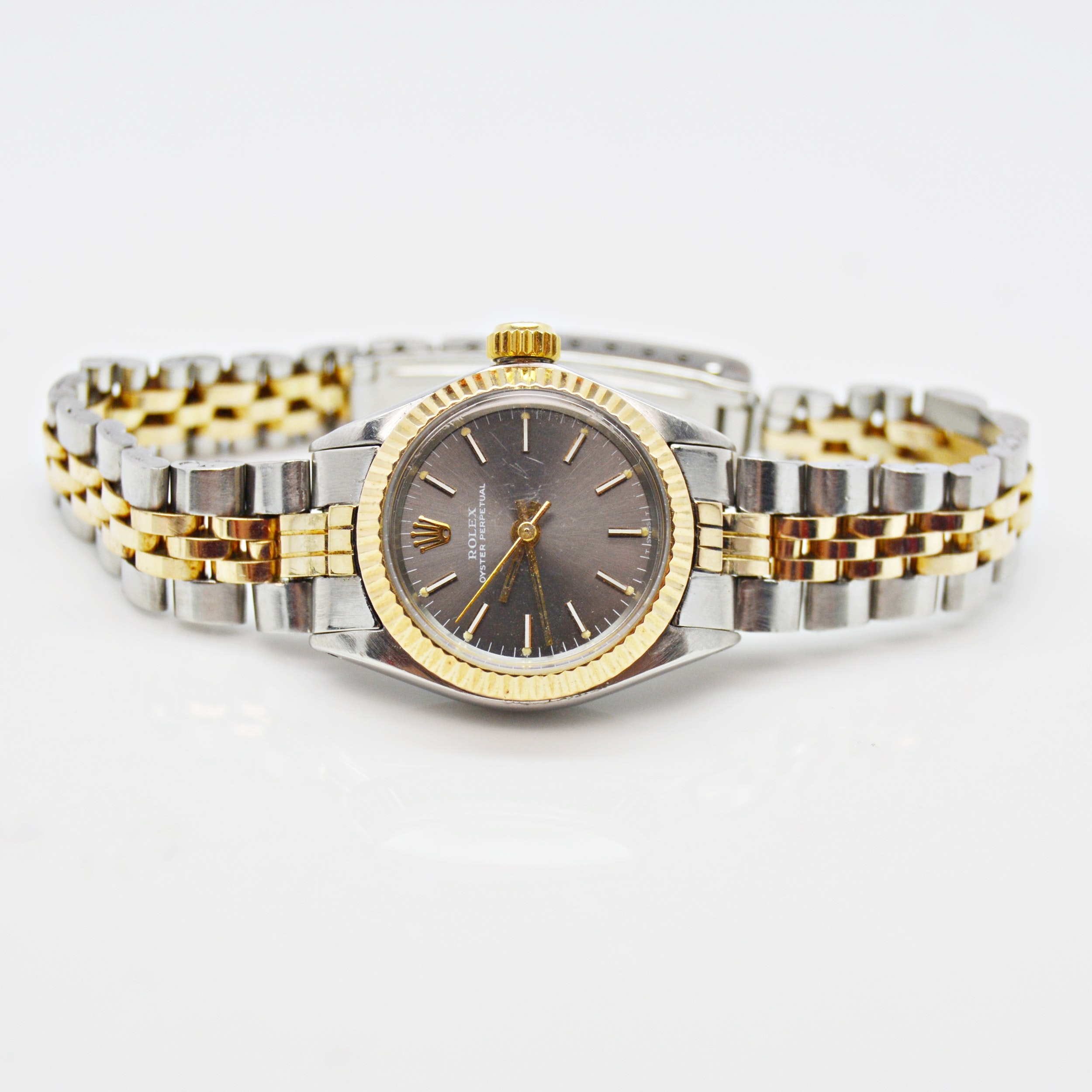 Rolex 14K Yellow Gold and Stainless Steel Oyster Perpetual Wristwatch