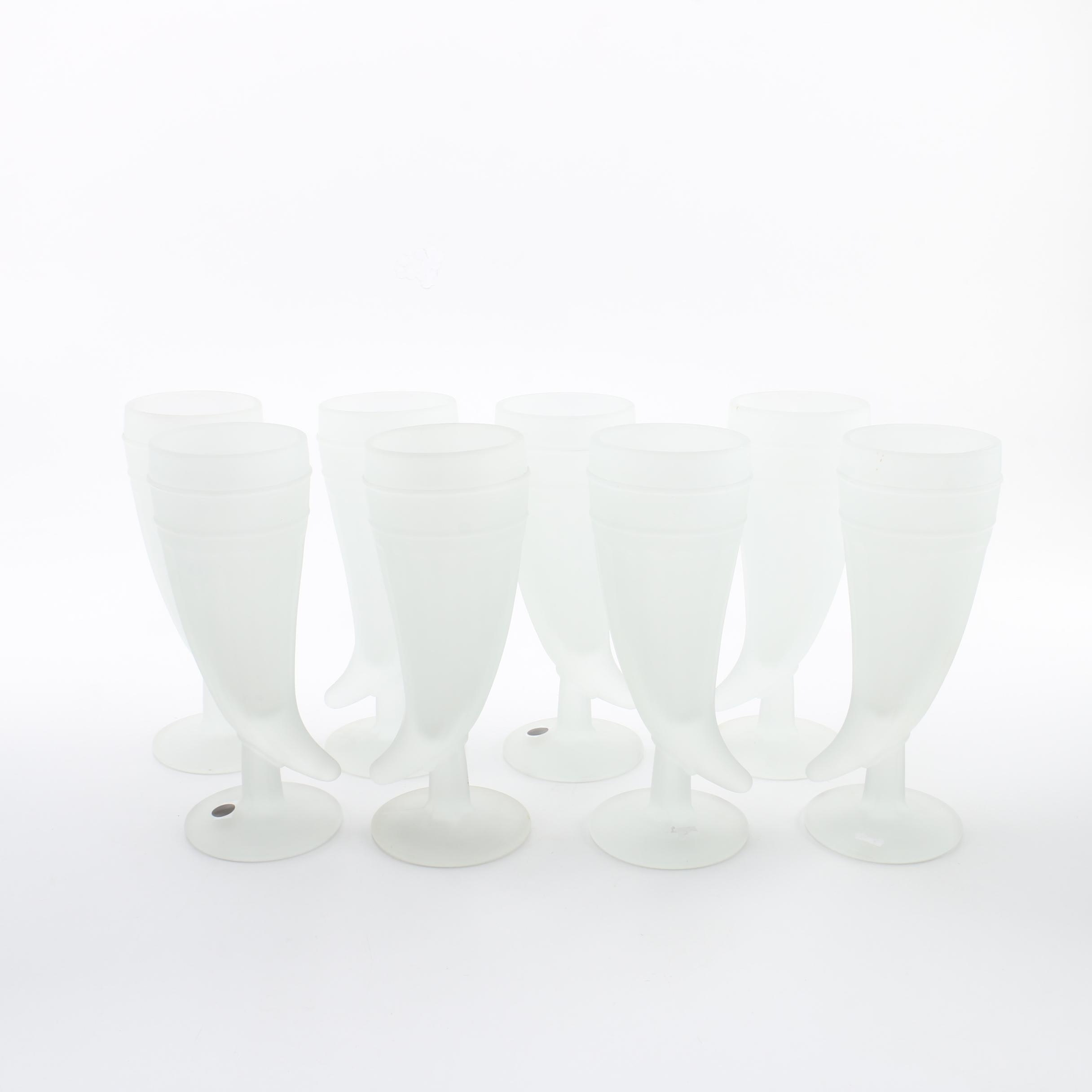 "Tiara ""Powder Horn Frosted"" Pilsner Glasses"