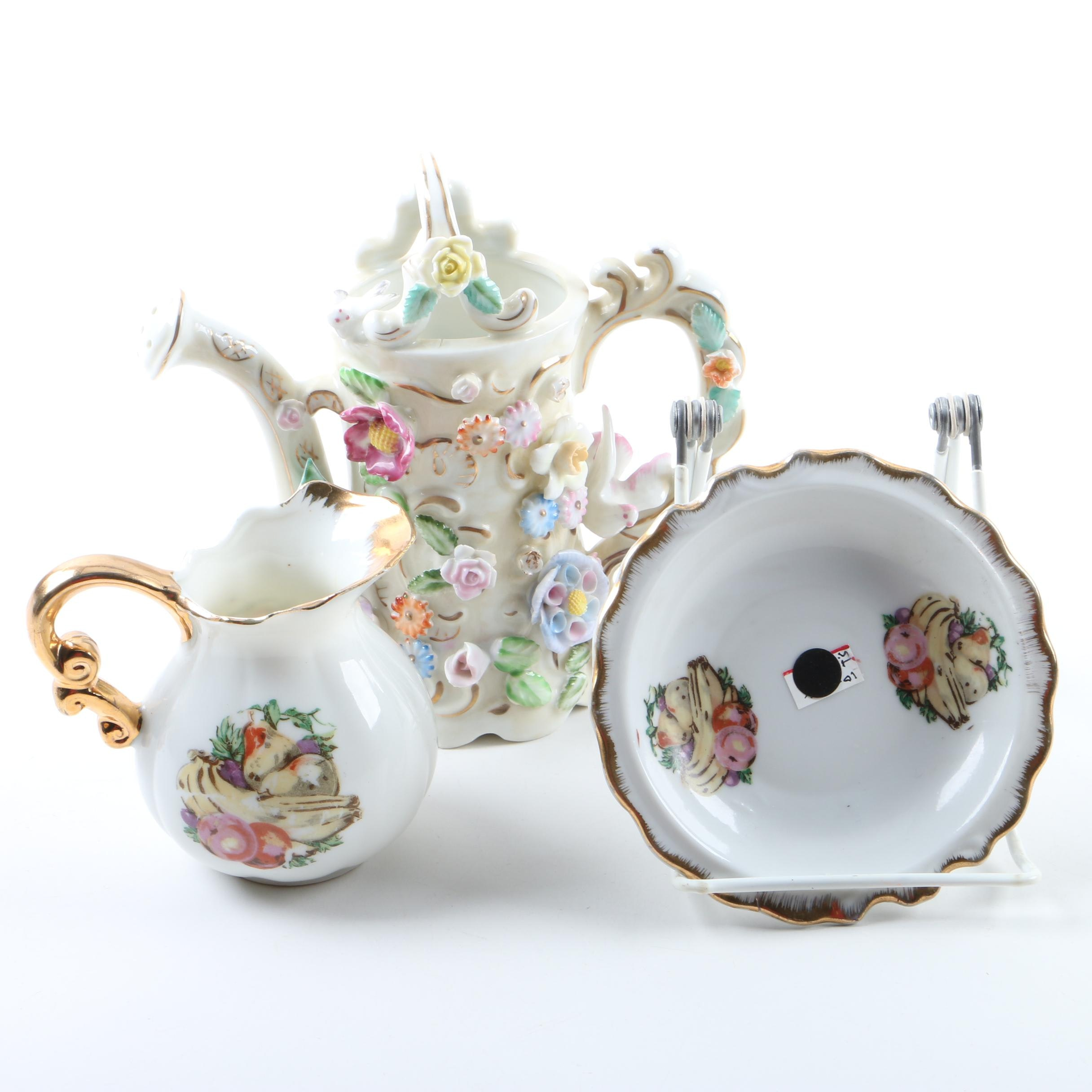 Pairing of Japanese Porcelain Creamers