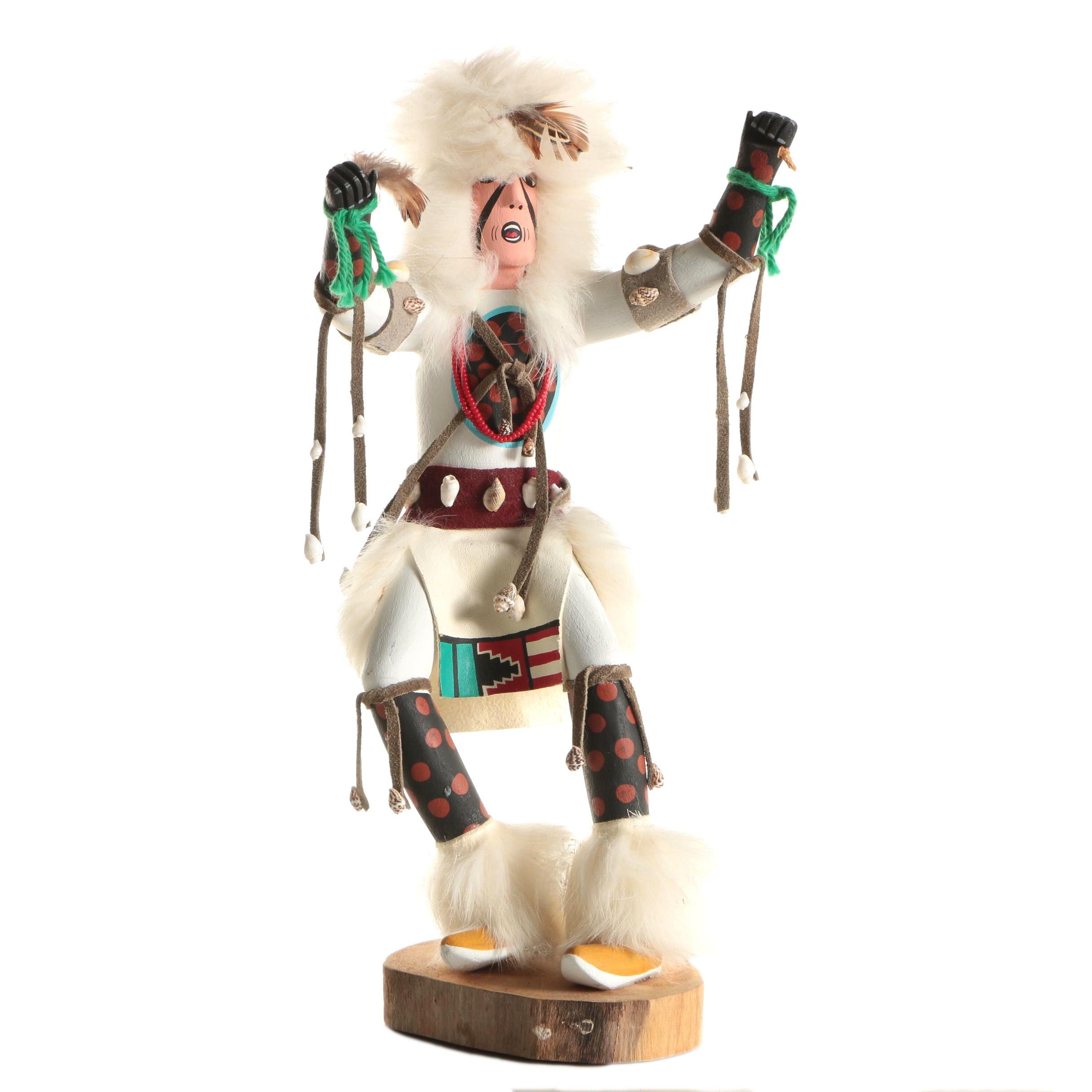 "A. Smith Kachina Style Figurine ""White Buffalo"""