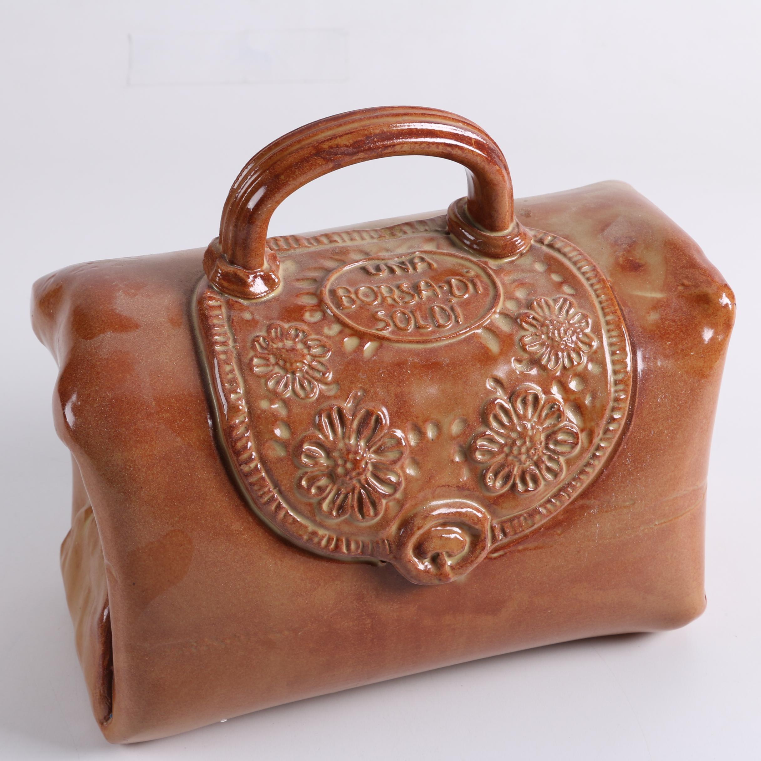 Italian Handbuilt Stoneware Money Bag