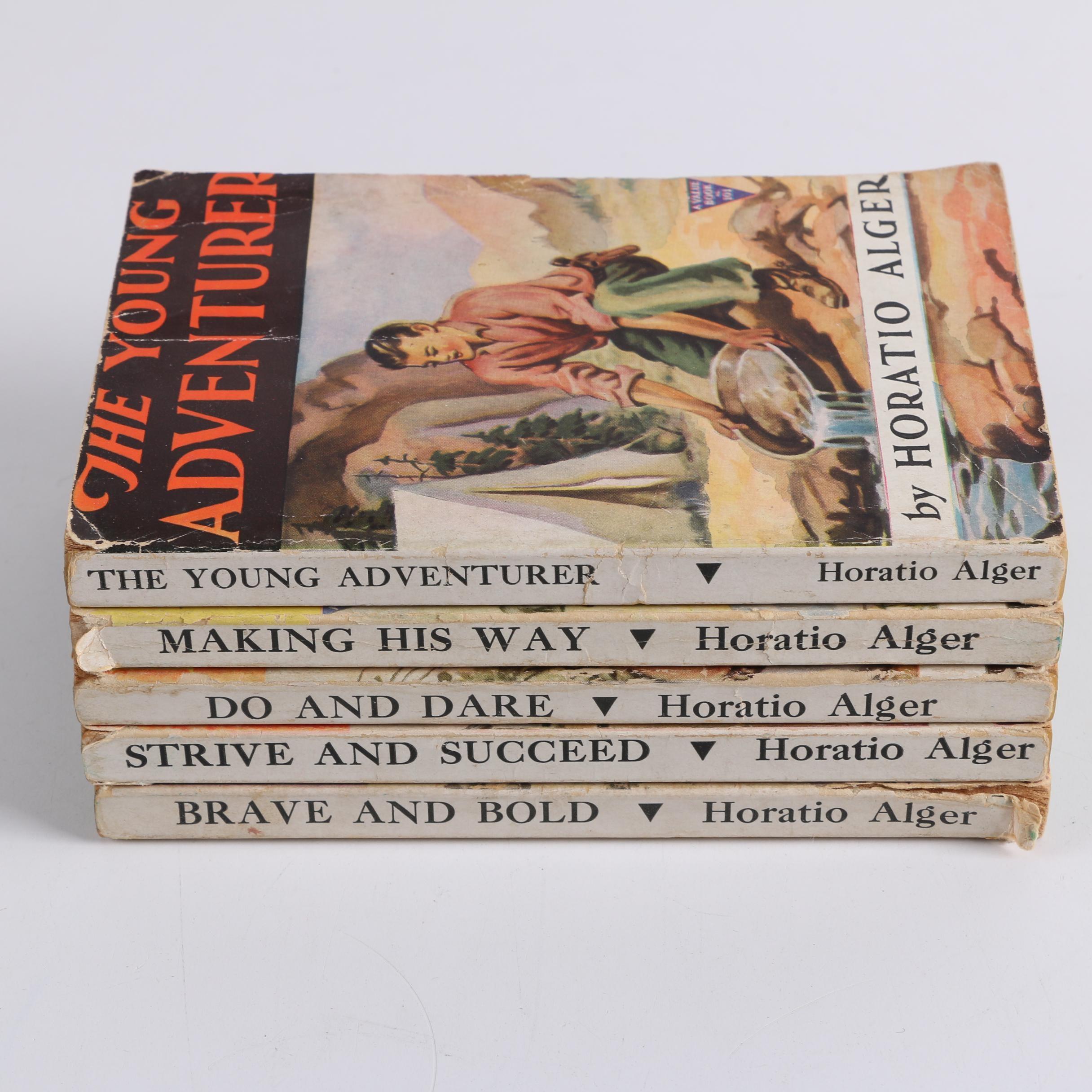 Vintage Horatio Alger Paperback Novels