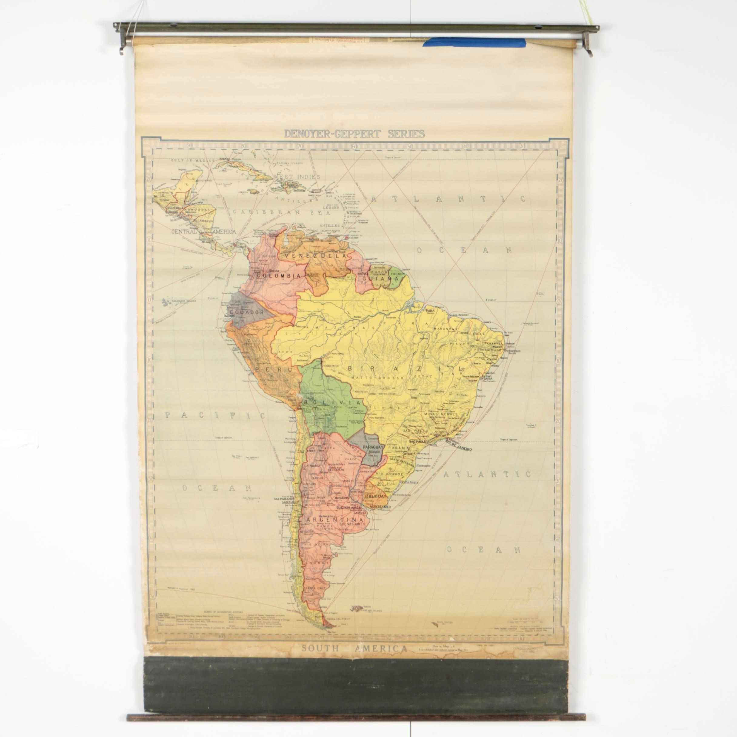 Denoyer-Geppert School Map of South America