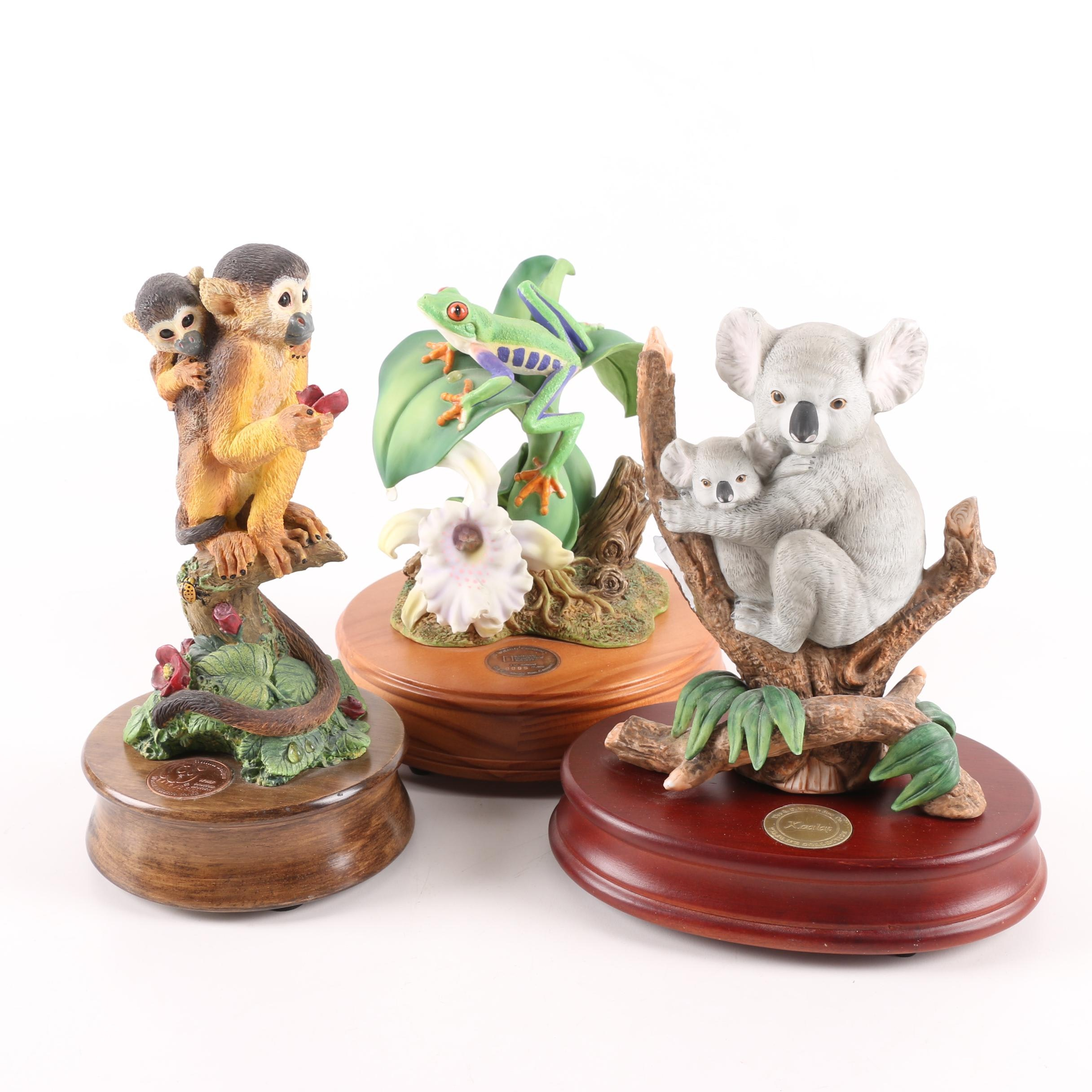 Resin and Wood Music Figurines