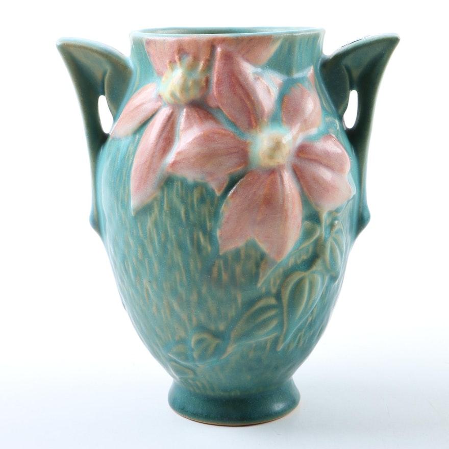 Roseville Clematis Vase Ebth
