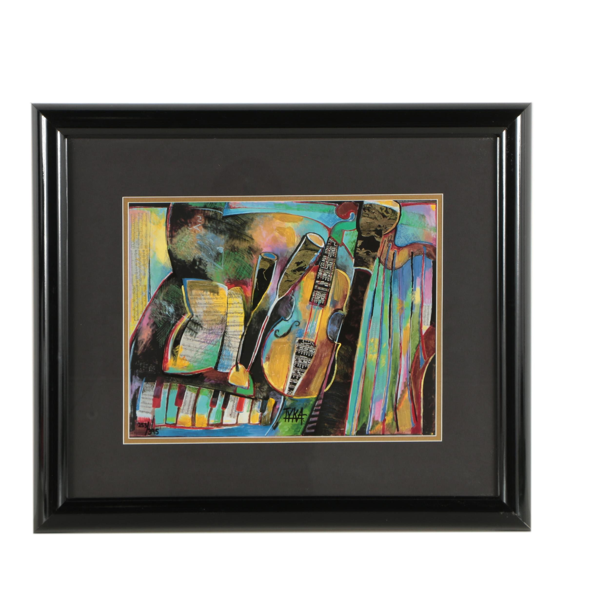 """Joanna Tyka Limited Edition Embellished Offset Lithograph """"Instrument II"""""""