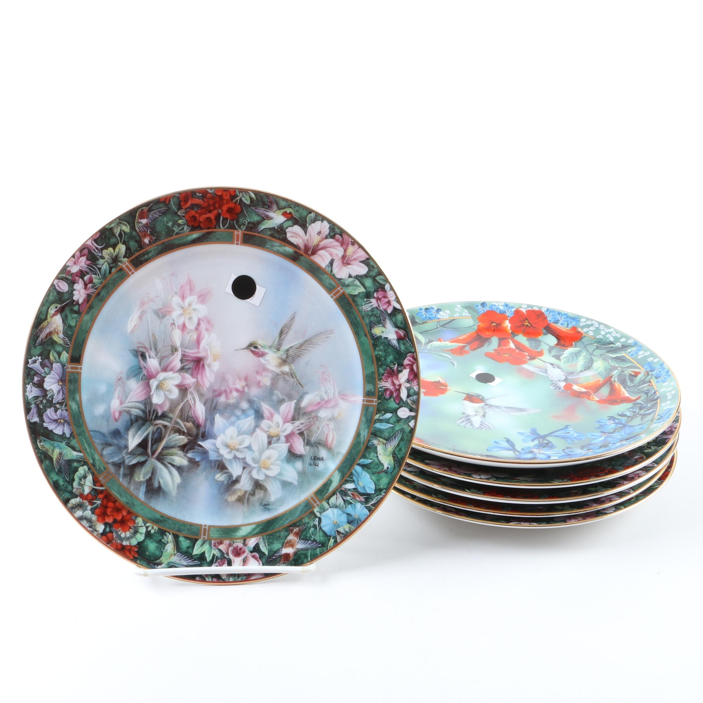 Limited Edition Hummingbird Plates by Janene Grende and Lena Liu