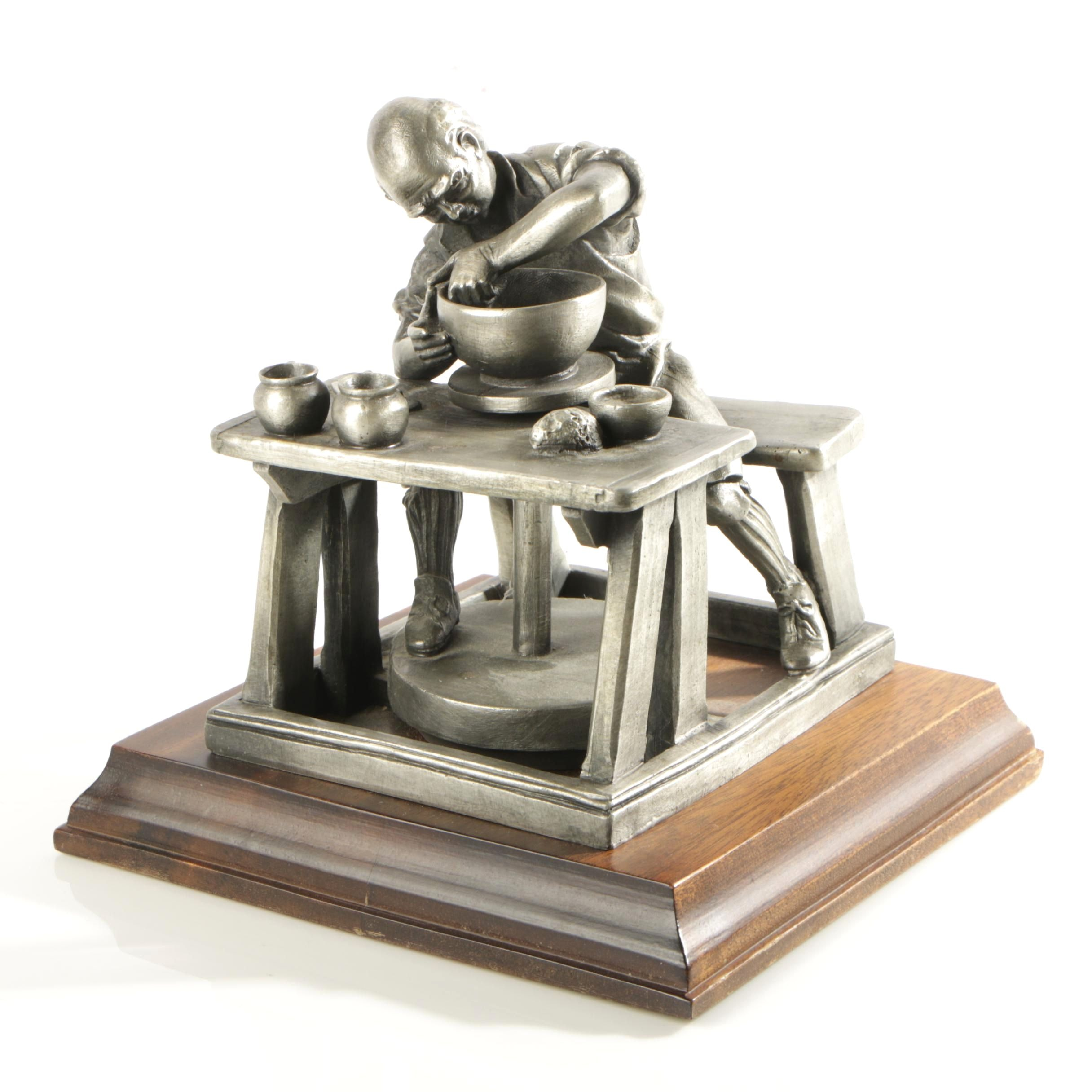 P. W. Baston Limited Edition Pewter Sculpture