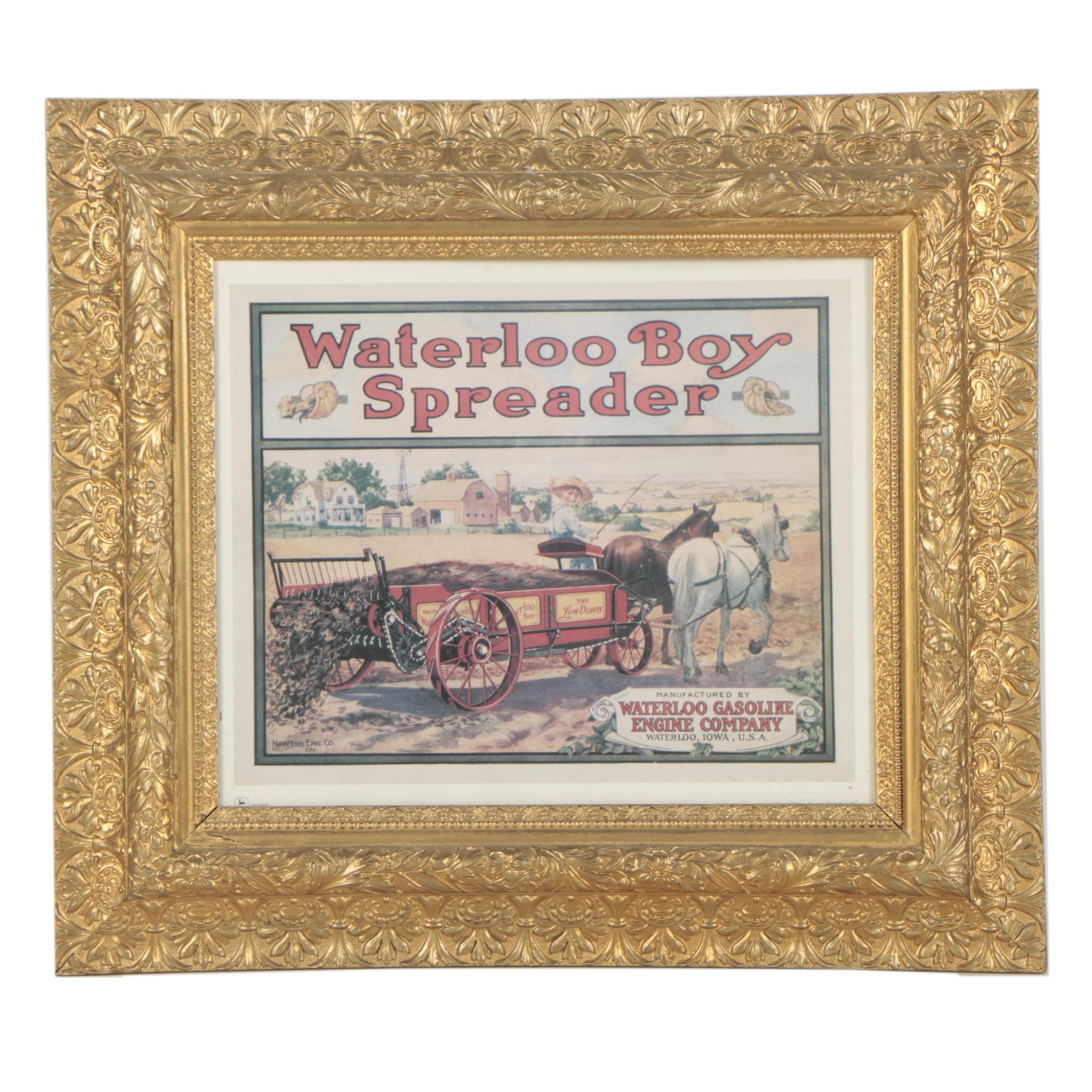 Offset Lithograph After Circa 1920 Waterloo Gasoline Company Advertisement