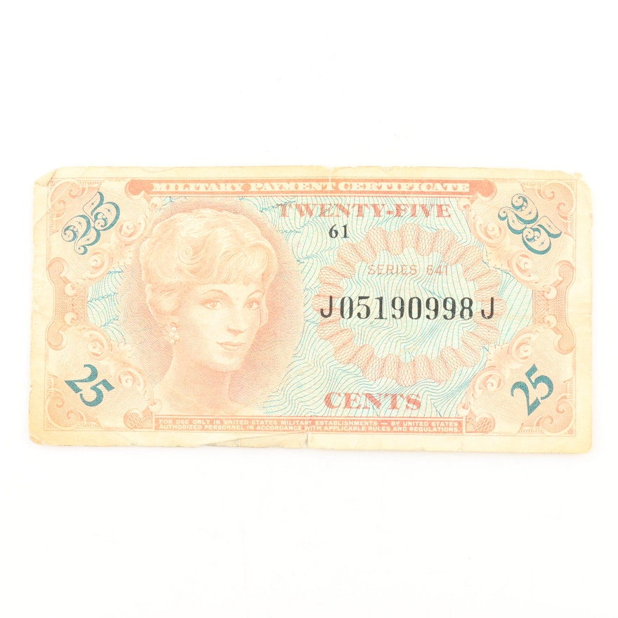 Series 641 Military Payment Certificate Ebth